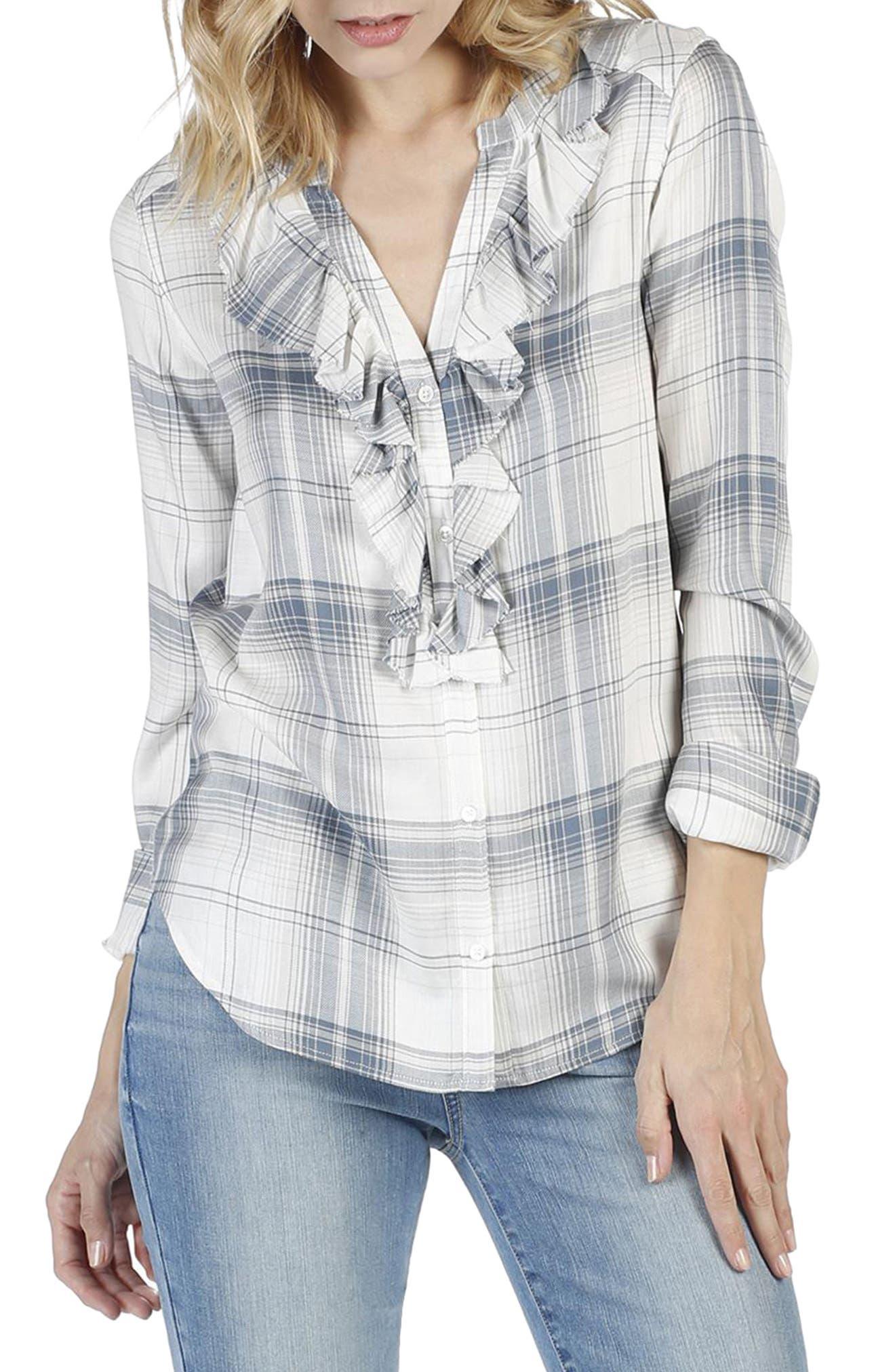Bernette Plaid Shirt,                             Alternate thumbnail 2, color,                             001