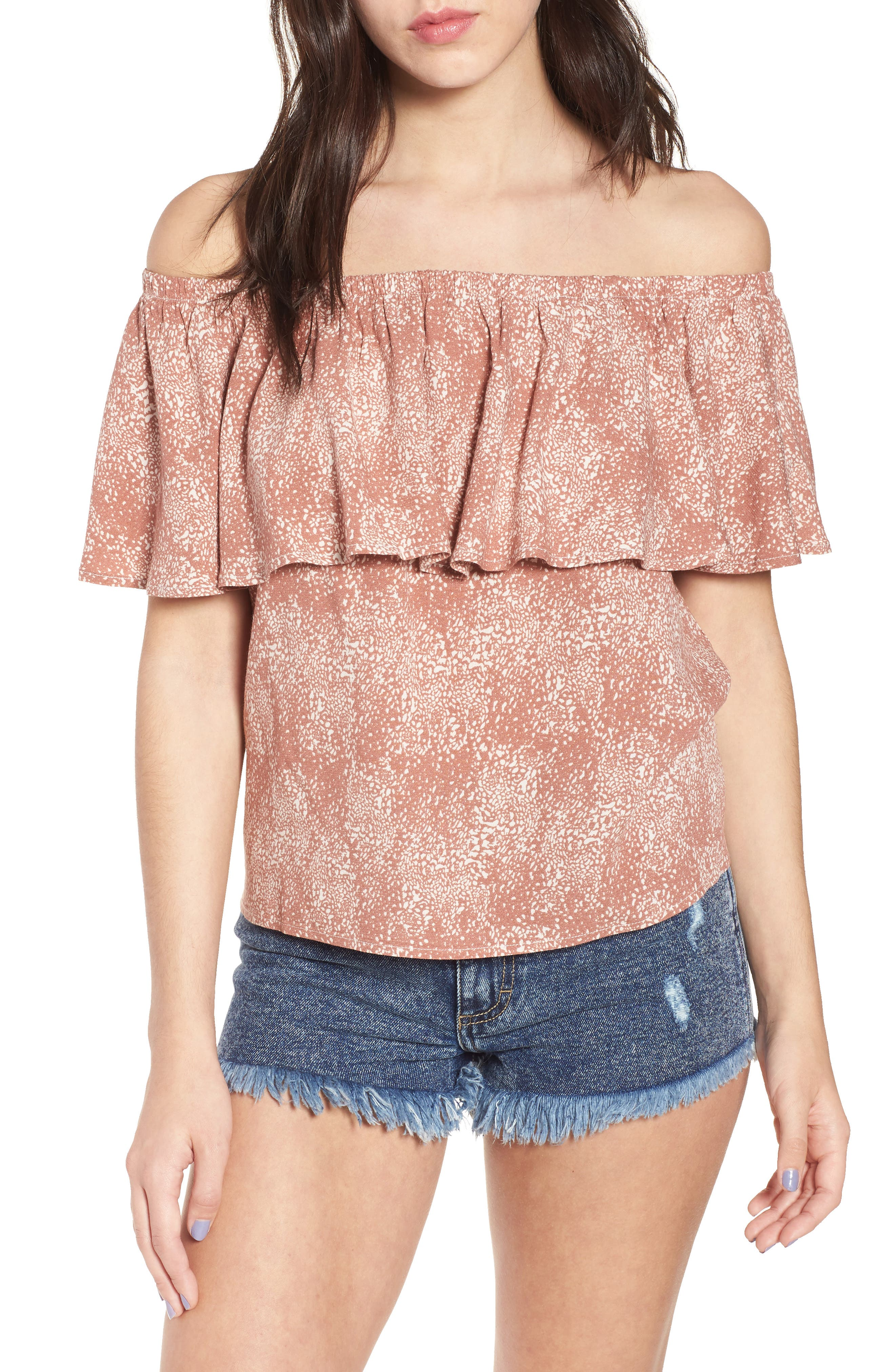 Mary Off the Shoulder Top,                             Main thumbnail 2, color,