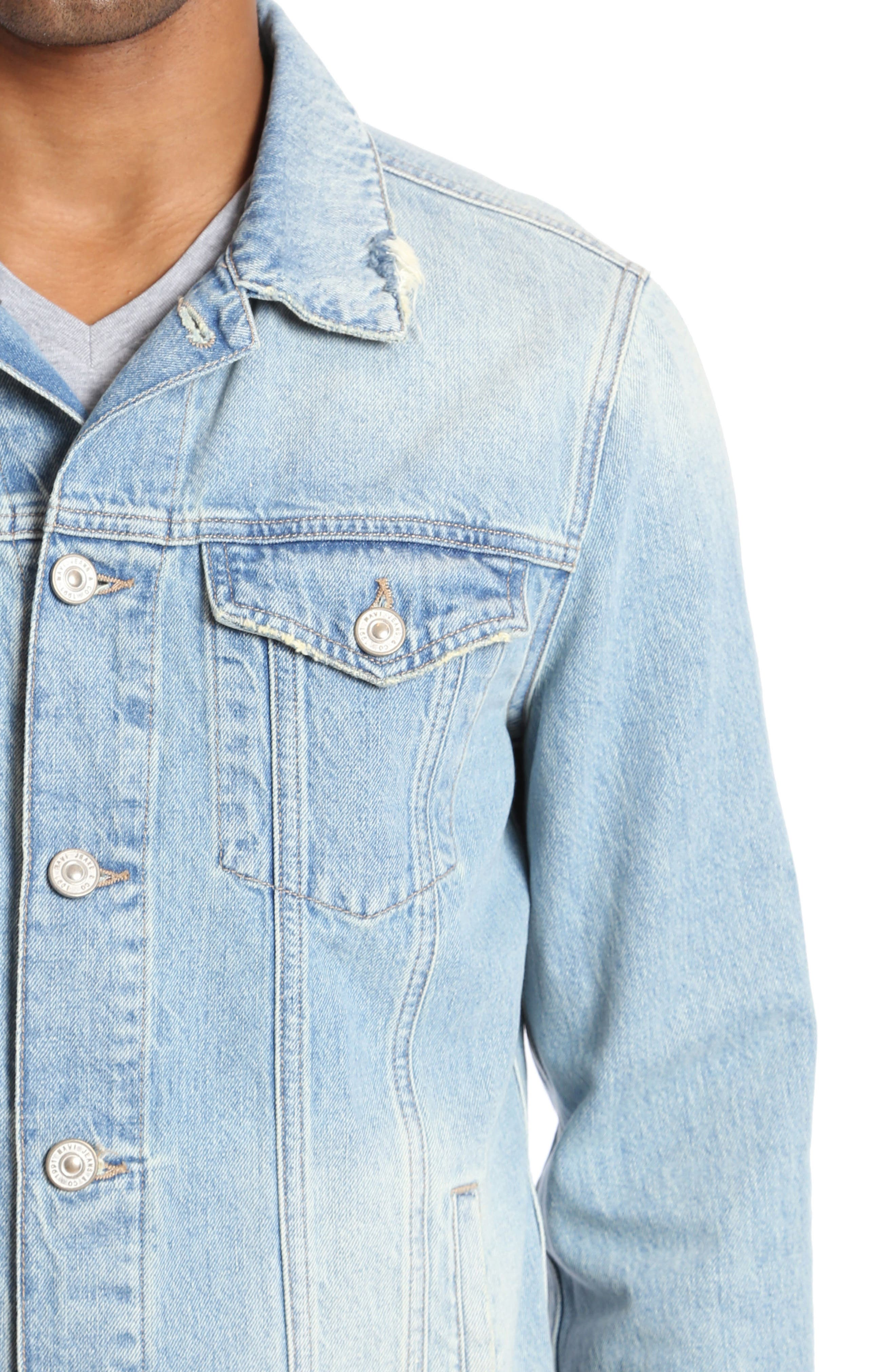 Frank Denim Jacket,                             Alternate thumbnail 3, color,                             BLEACH VINTAGE RIGID