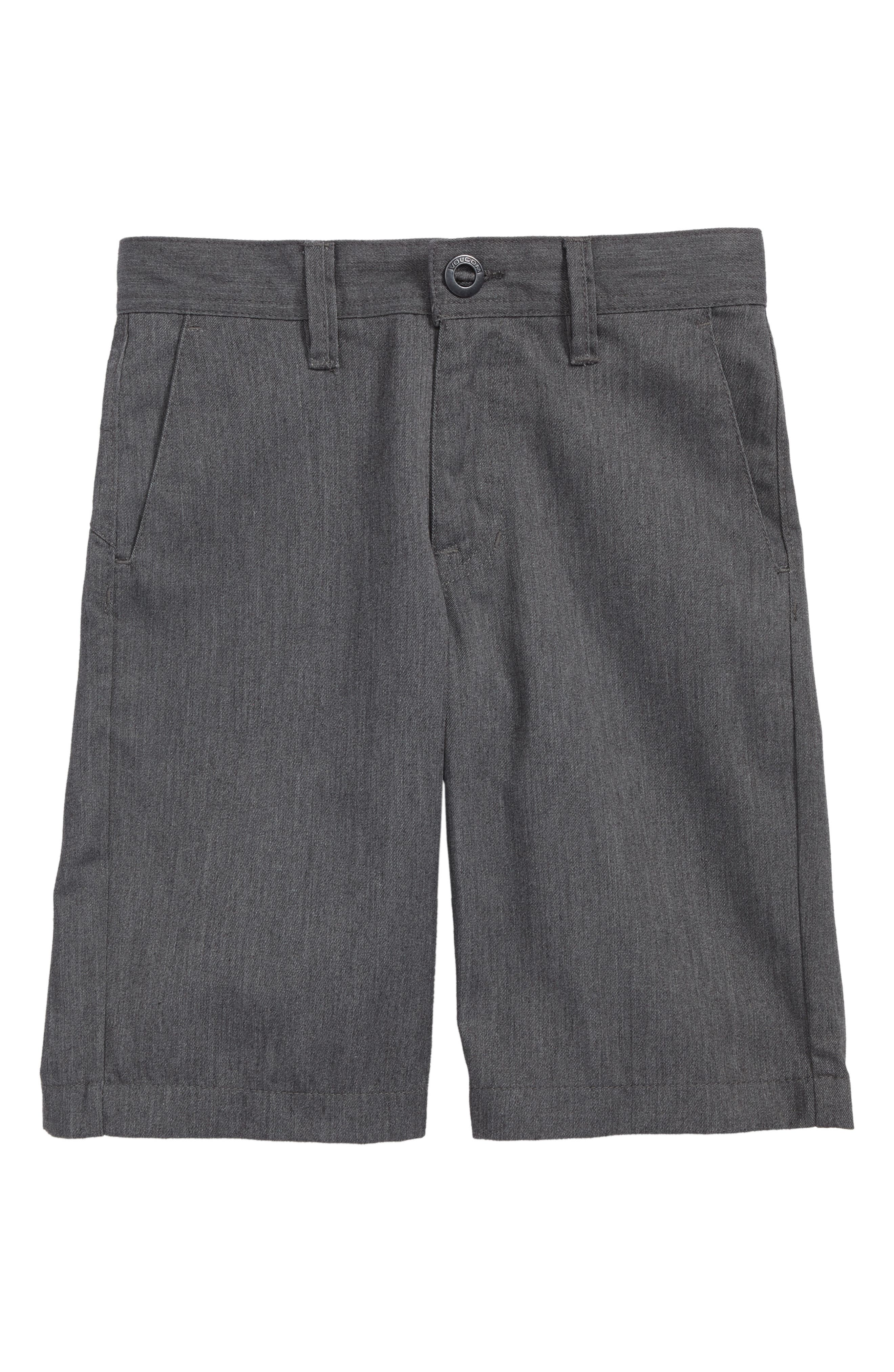 Chino Shorts,                         Main,                         color, CHARCOAL HEATHER