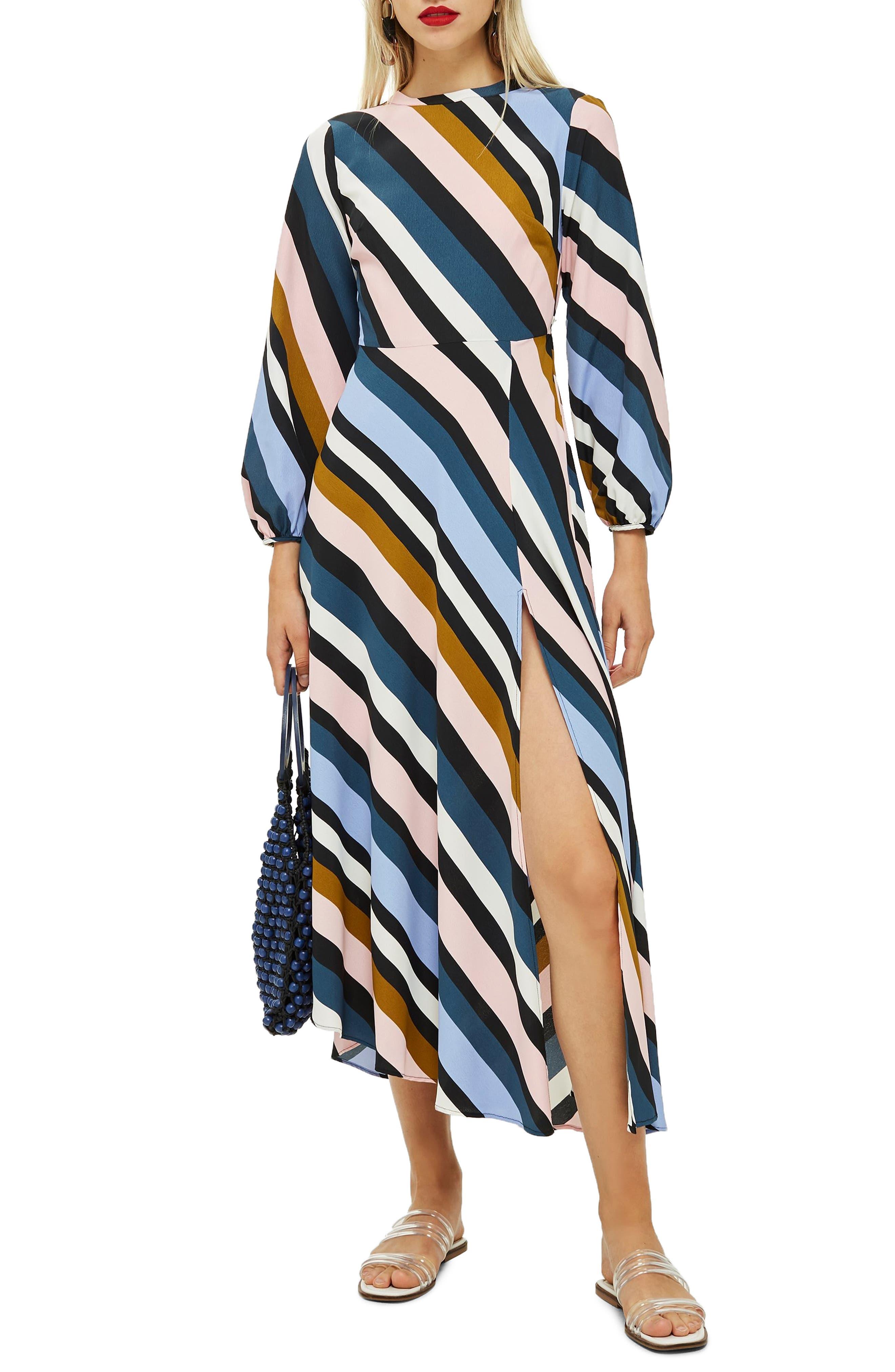 Open Back Midi Dress, Main, color, 460