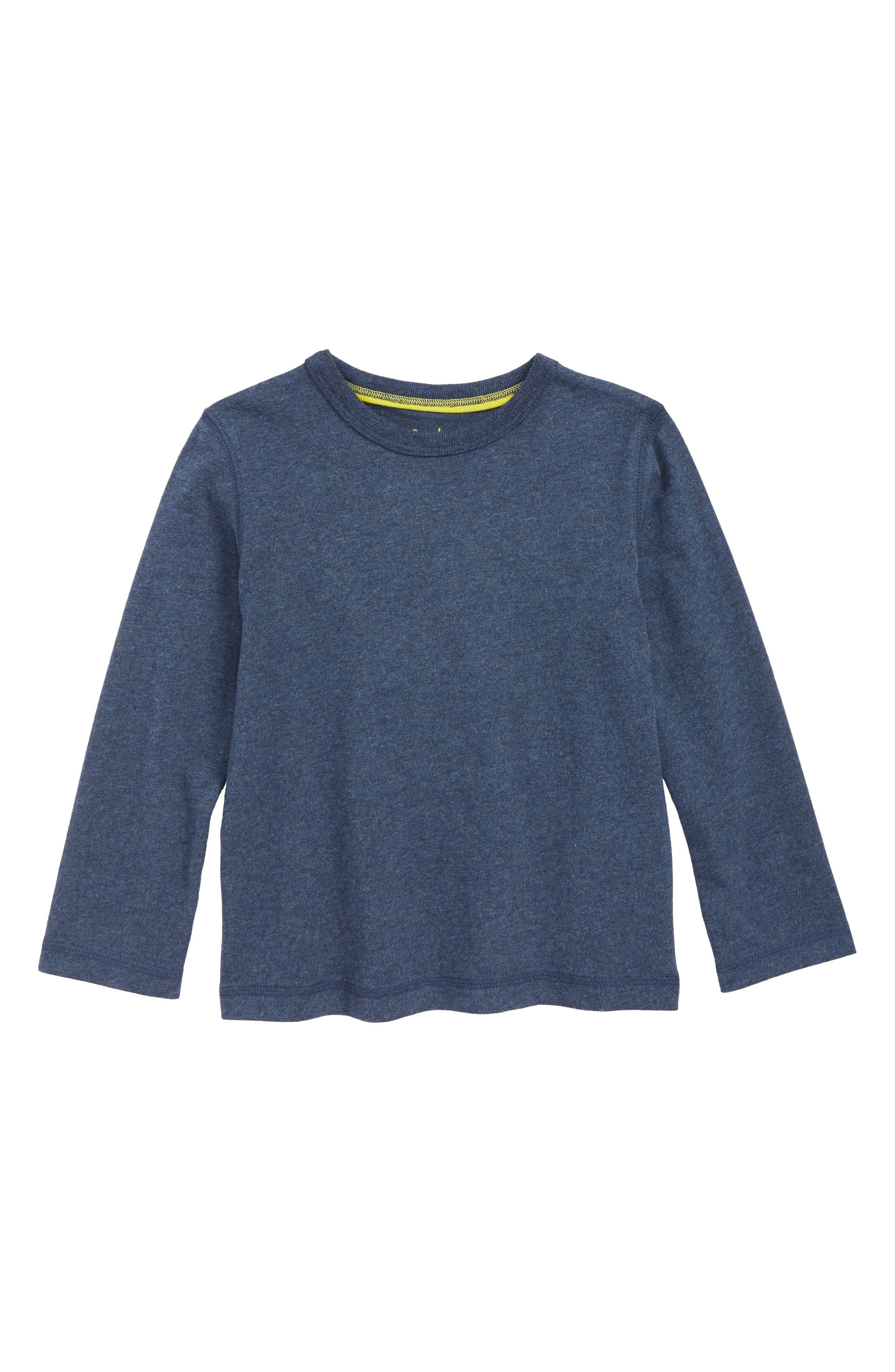 Supersoft Long Sleeve T-Shirt,                         Main,                         color, NAVY MARL