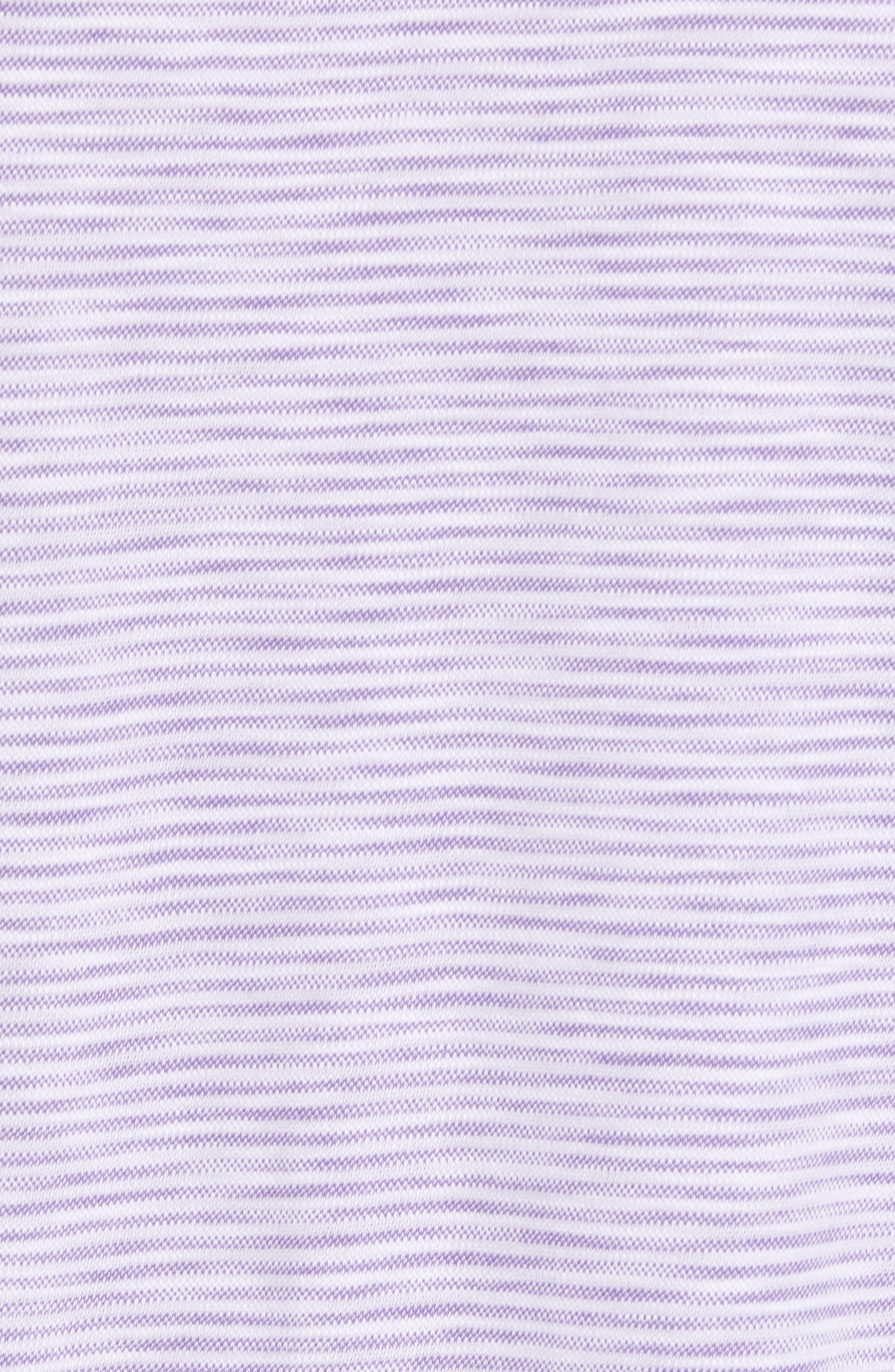 Marled Stripe Polo,                             Alternate thumbnail 5, color,                             ORCHID