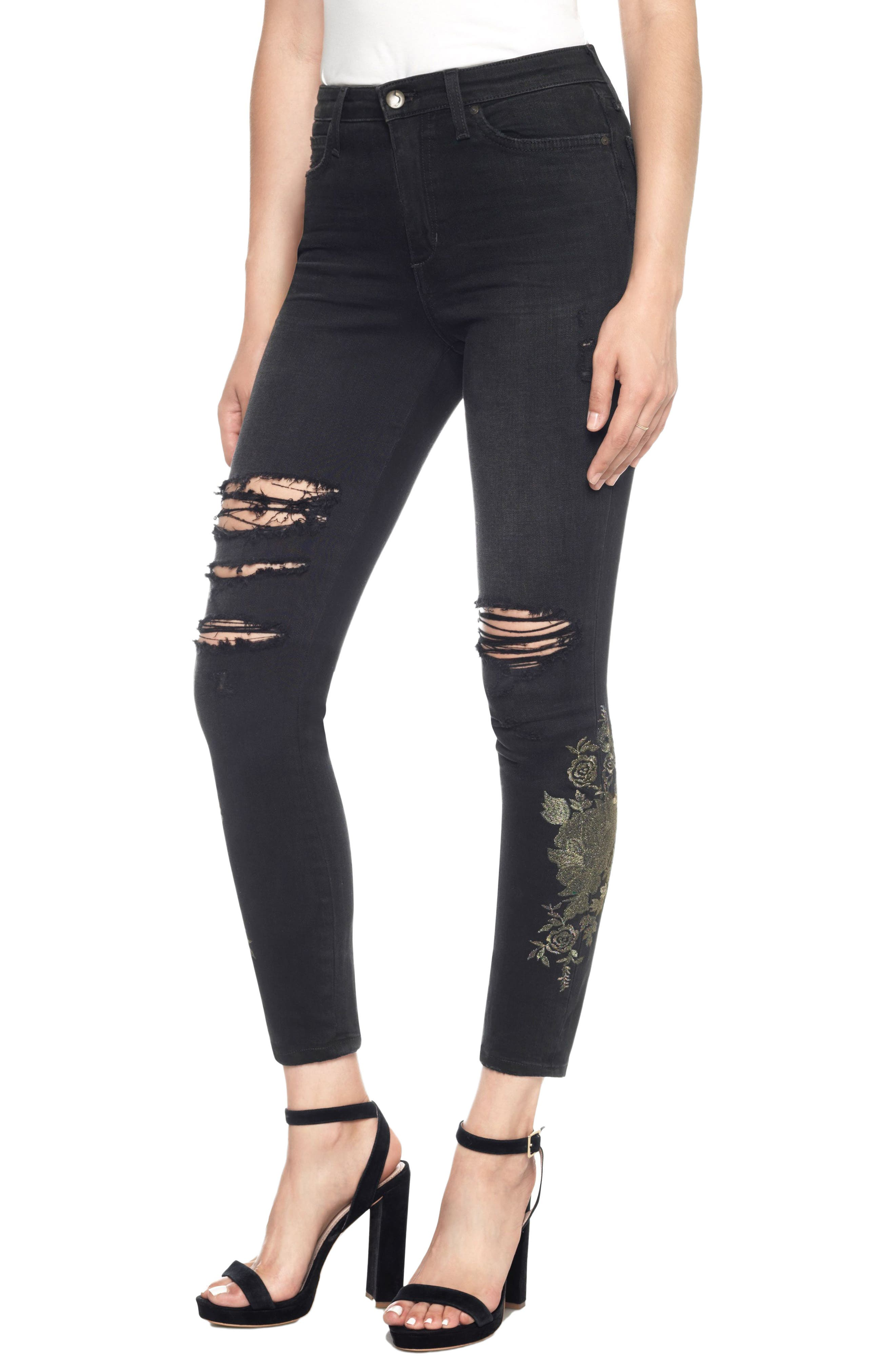 Charlie High Waist Ankle Skinny Jeans,                             Main thumbnail 1, color,