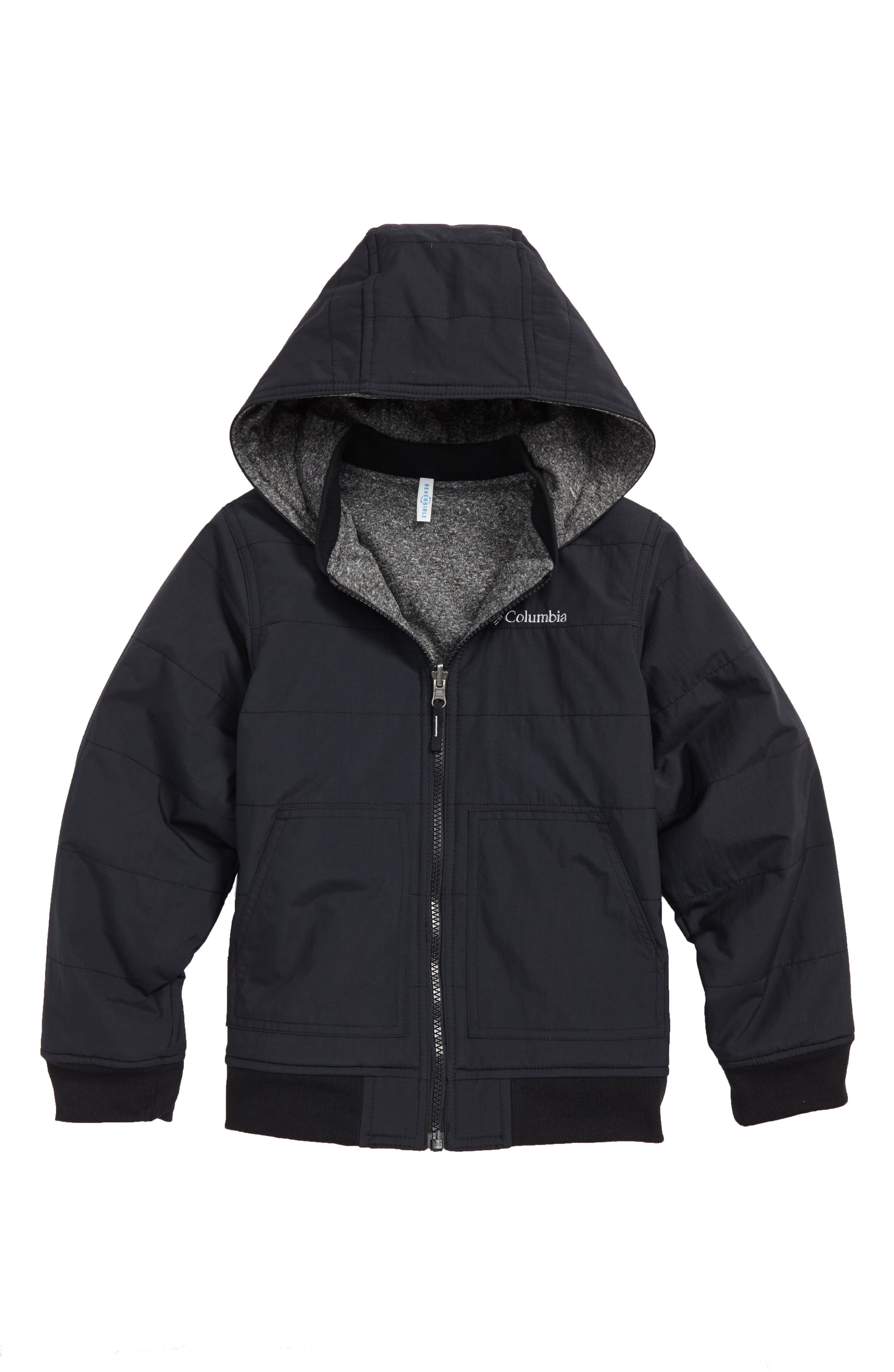 COLUMBIA,                             Evergreen Ridge Reversible Water Resistant Jacket,                             Main thumbnail 1, color,                             010