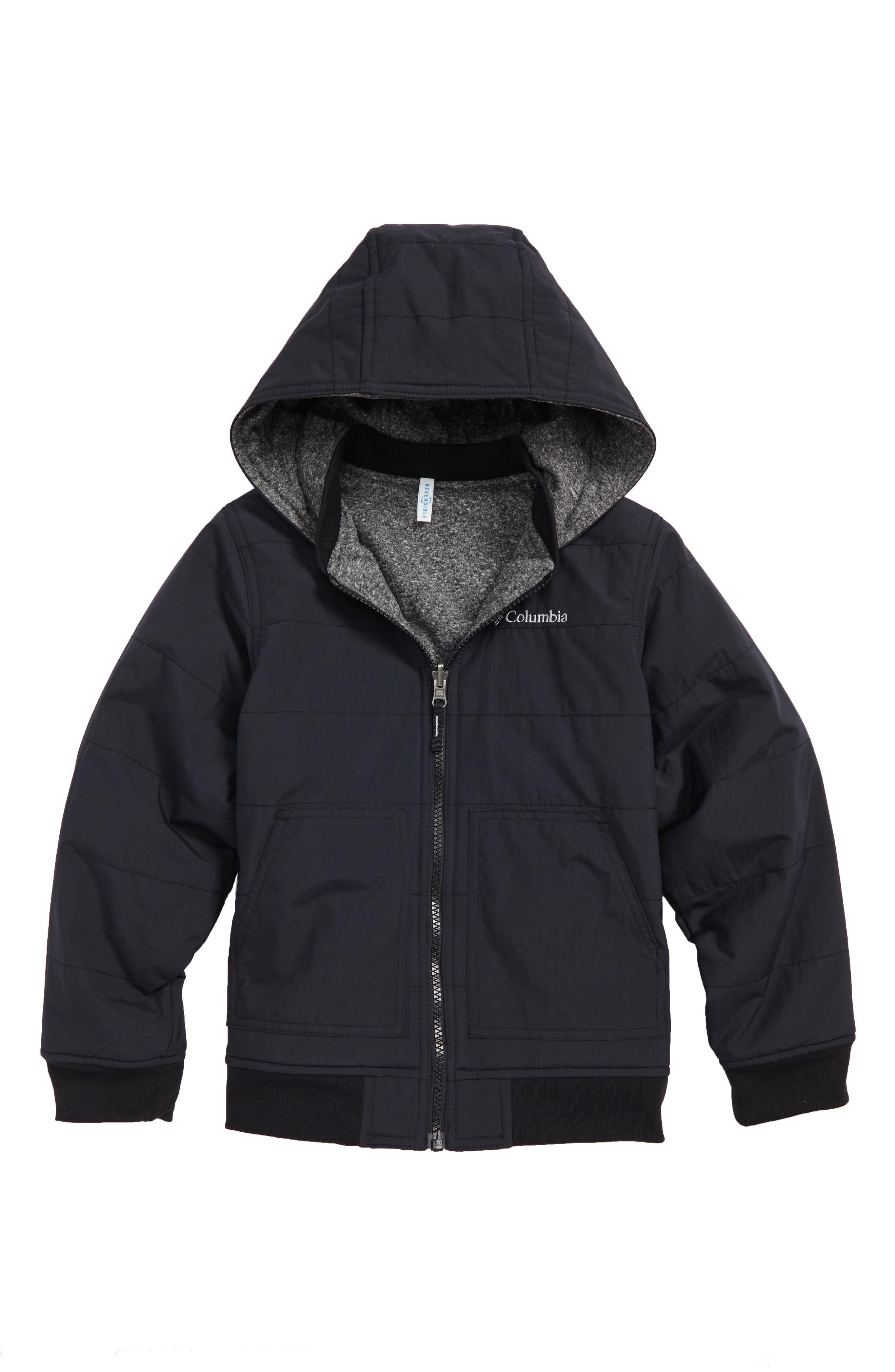 COLUMBIA Evergreen Ridge Reversible Water Resistant Jacket, Main, color, 010