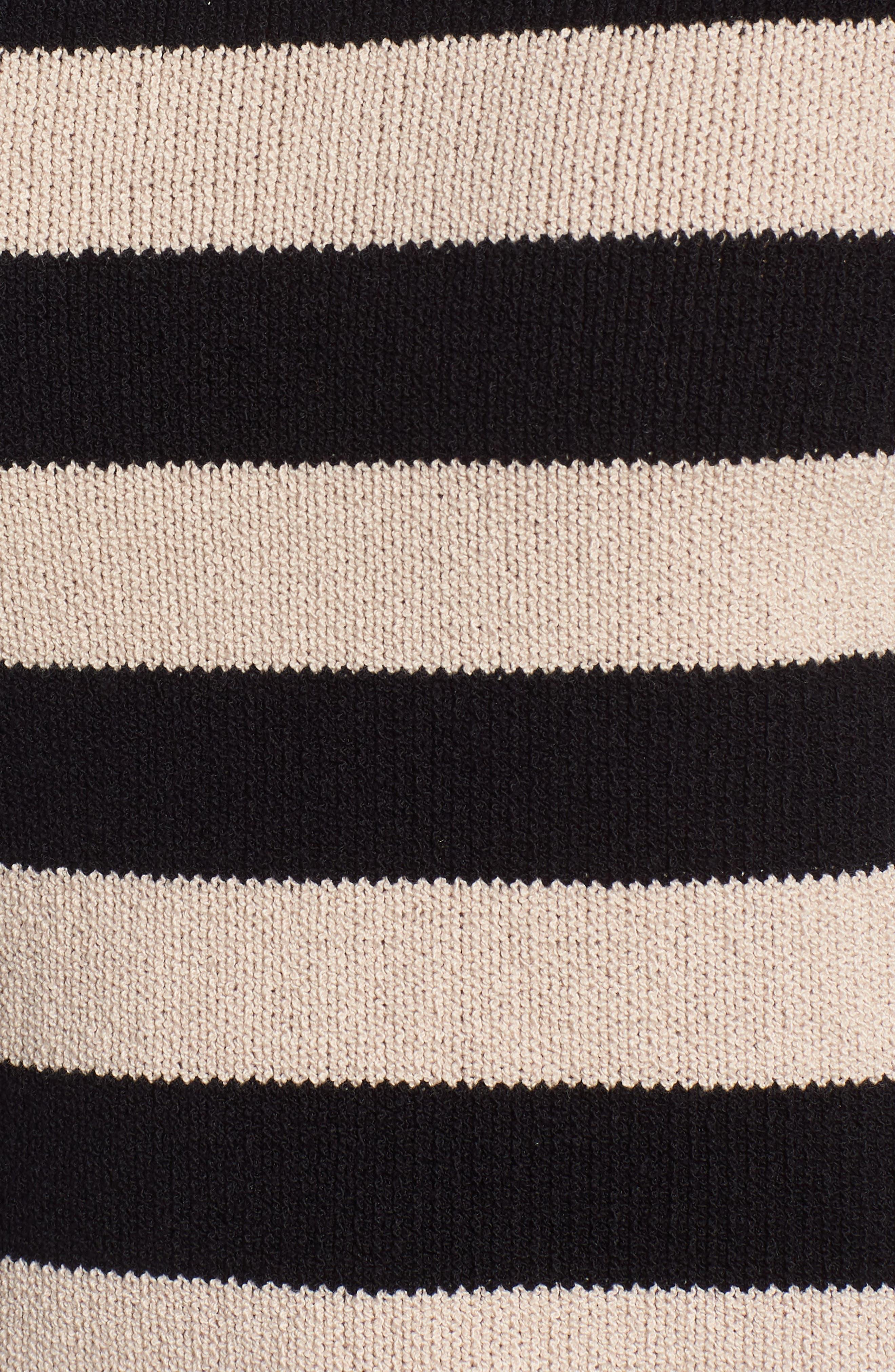 Tenny Stripe Sleeveless Sweater,                             Alternate thumbnail 5, color,                             BLACK CAT / AUTUMN STRIPE