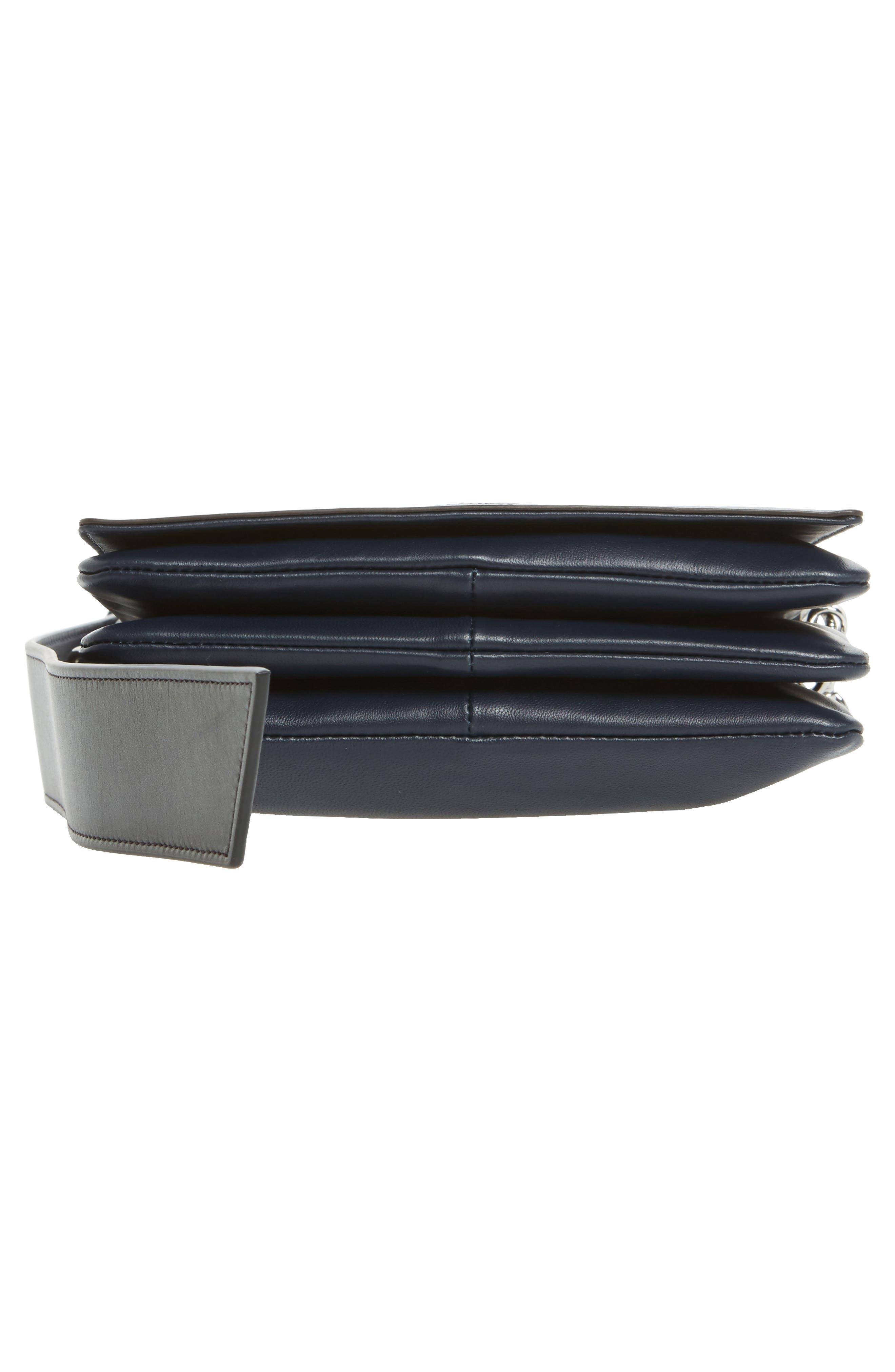 Zep Lambskin Leather Shoulder Bag,                             Alternate thumbnail 11, color,