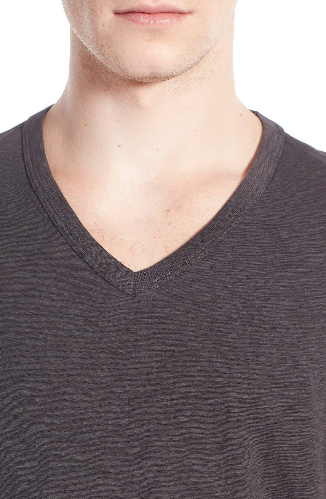 Slub V-Neck T-Shirt,                             Alternate thumbnail 4, color,                             SPHERE