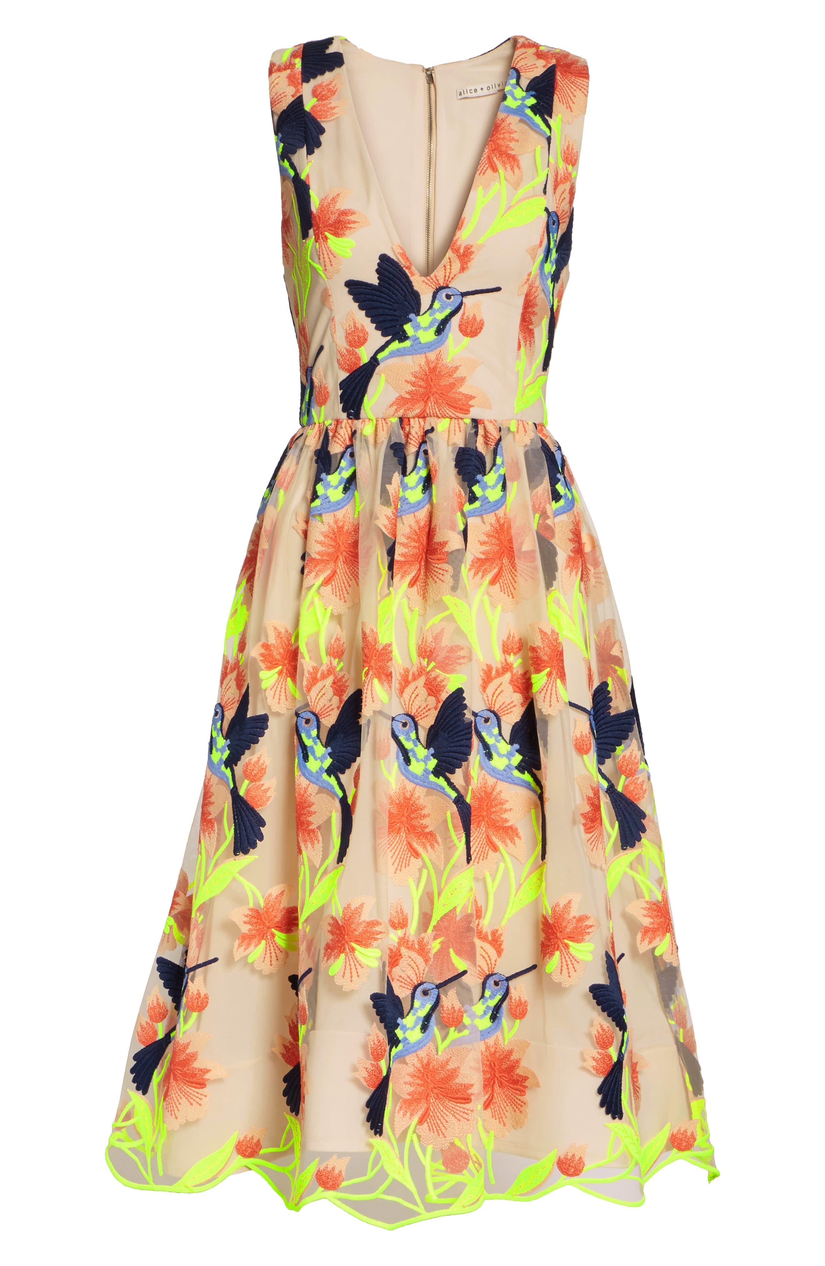 Becca Hummingbird Dress,                             Alternate thumbnail 7, color,                             260