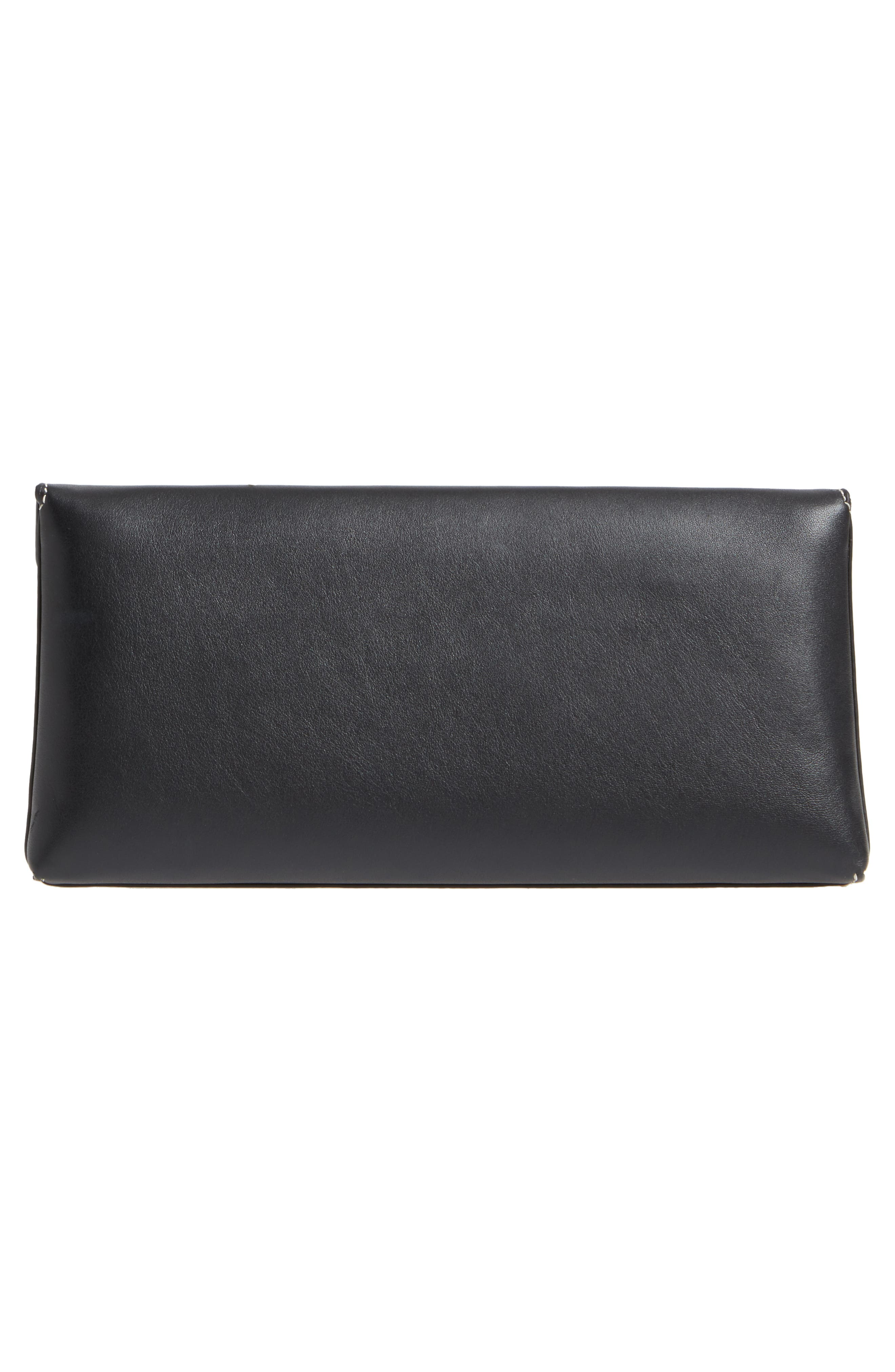 Miller Leather Clutch,                             Alternate thumbnail 3, color,                             001