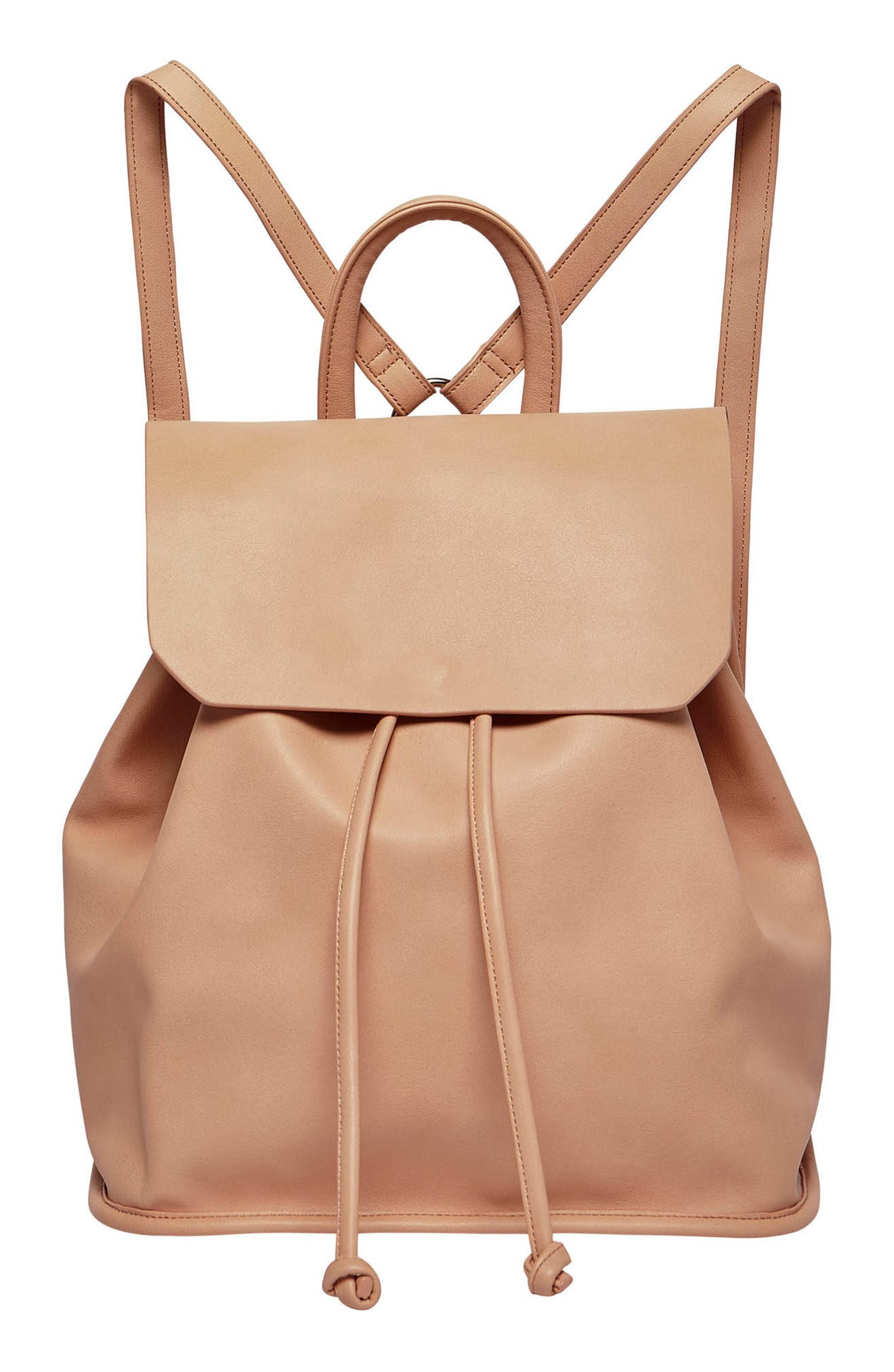 Midnight Vegan Leather Flap Backpack,                             Main thumbnail 2, color,