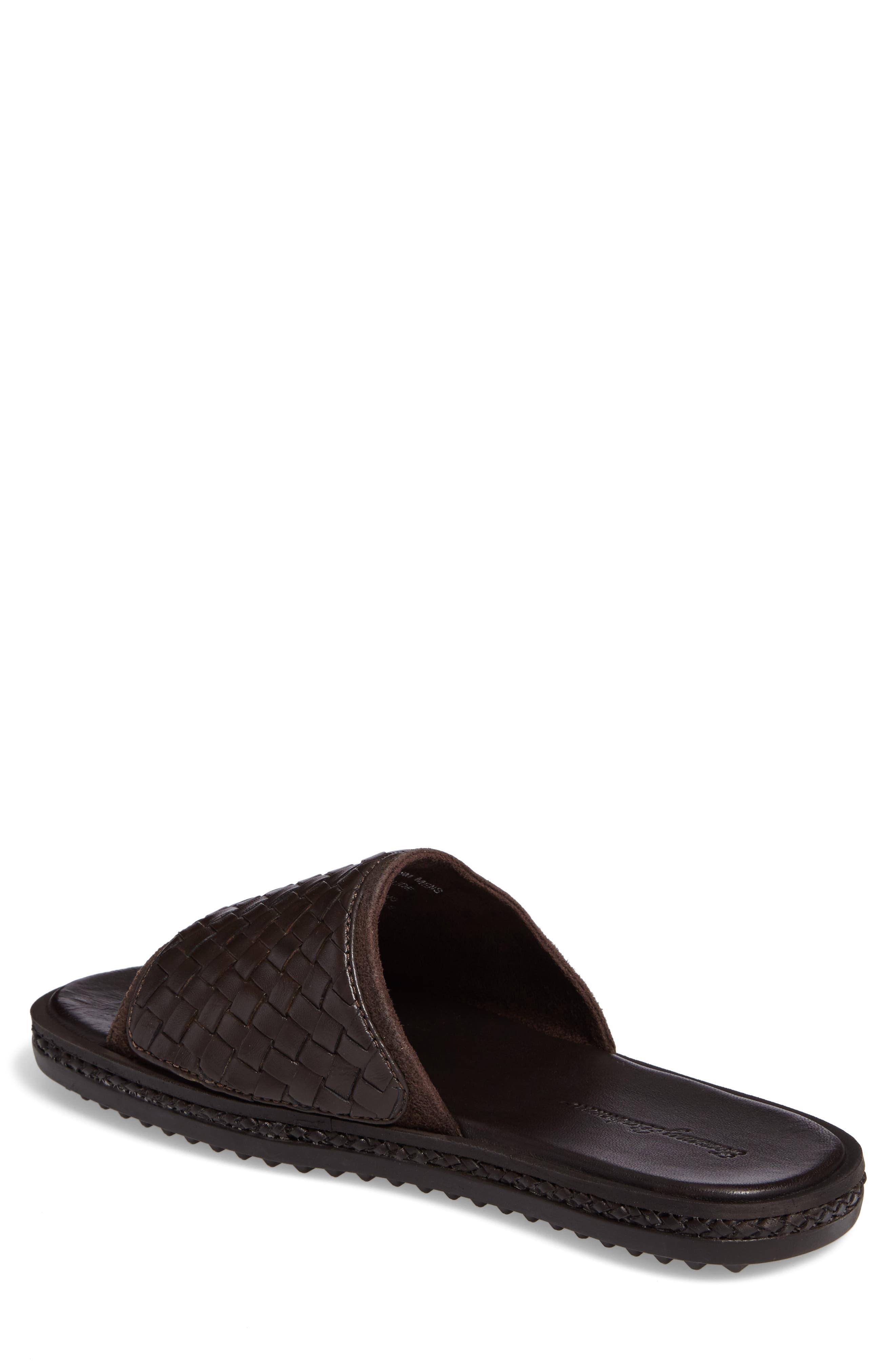 Shore Crest Woven Slide Sandal,                             Alternate thumbnail 4, color,