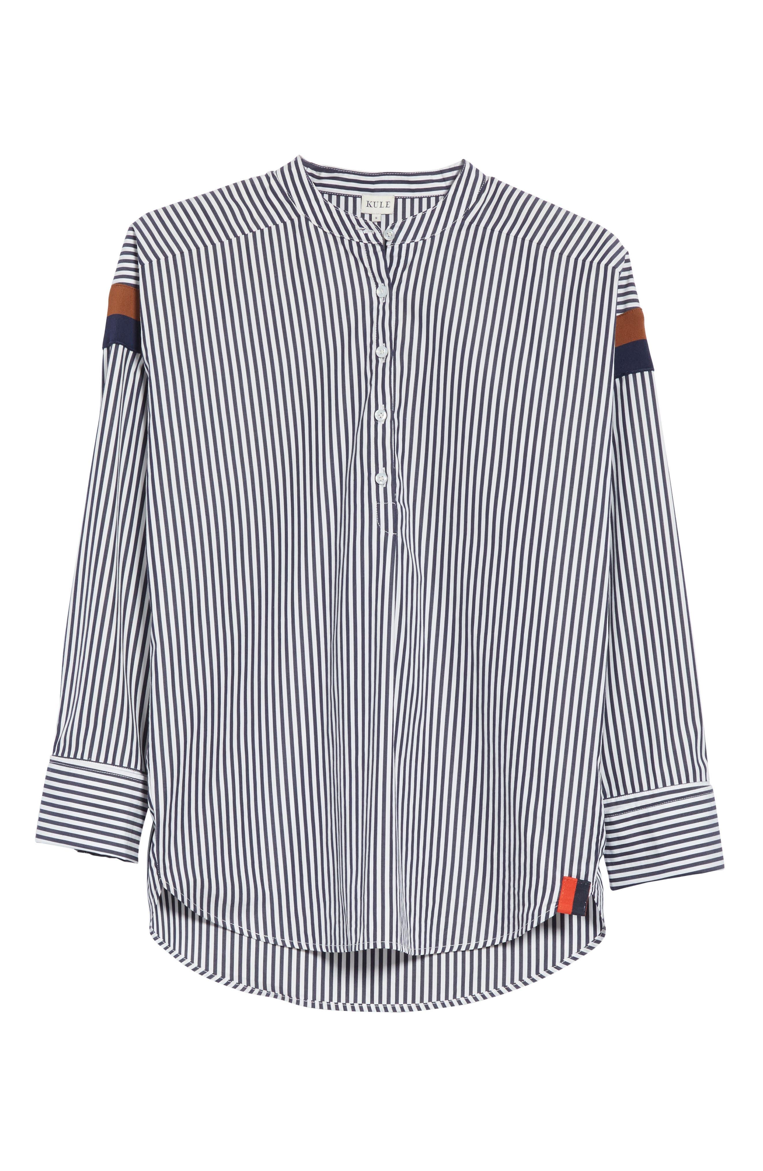 The Wallis Stripe Cotton Shirt,                             Alternate thumbnail 6, color,