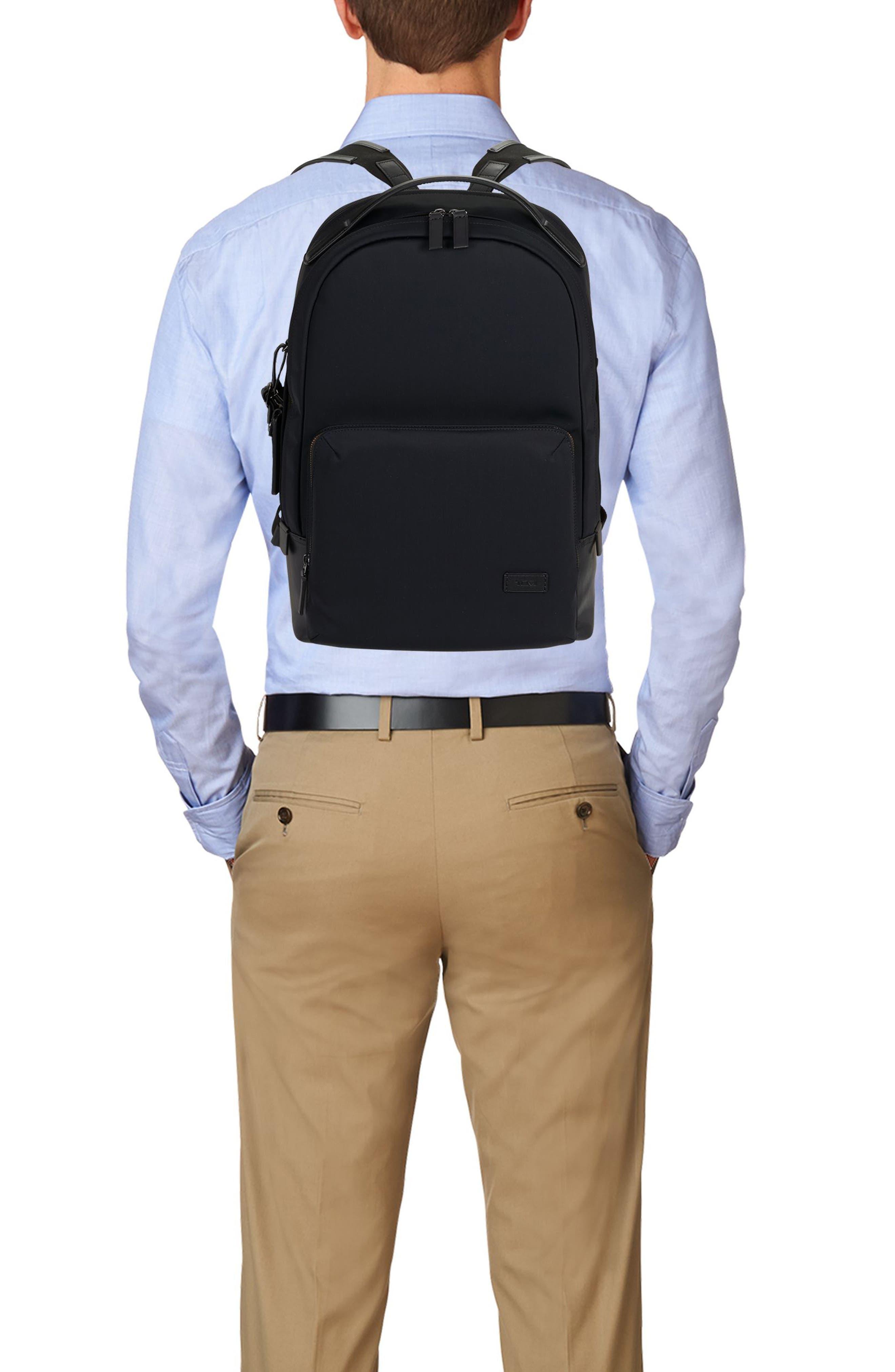 Harrison Webster Backpack,                             Alternate thumbnail 2, color,                             BLACK NYLON