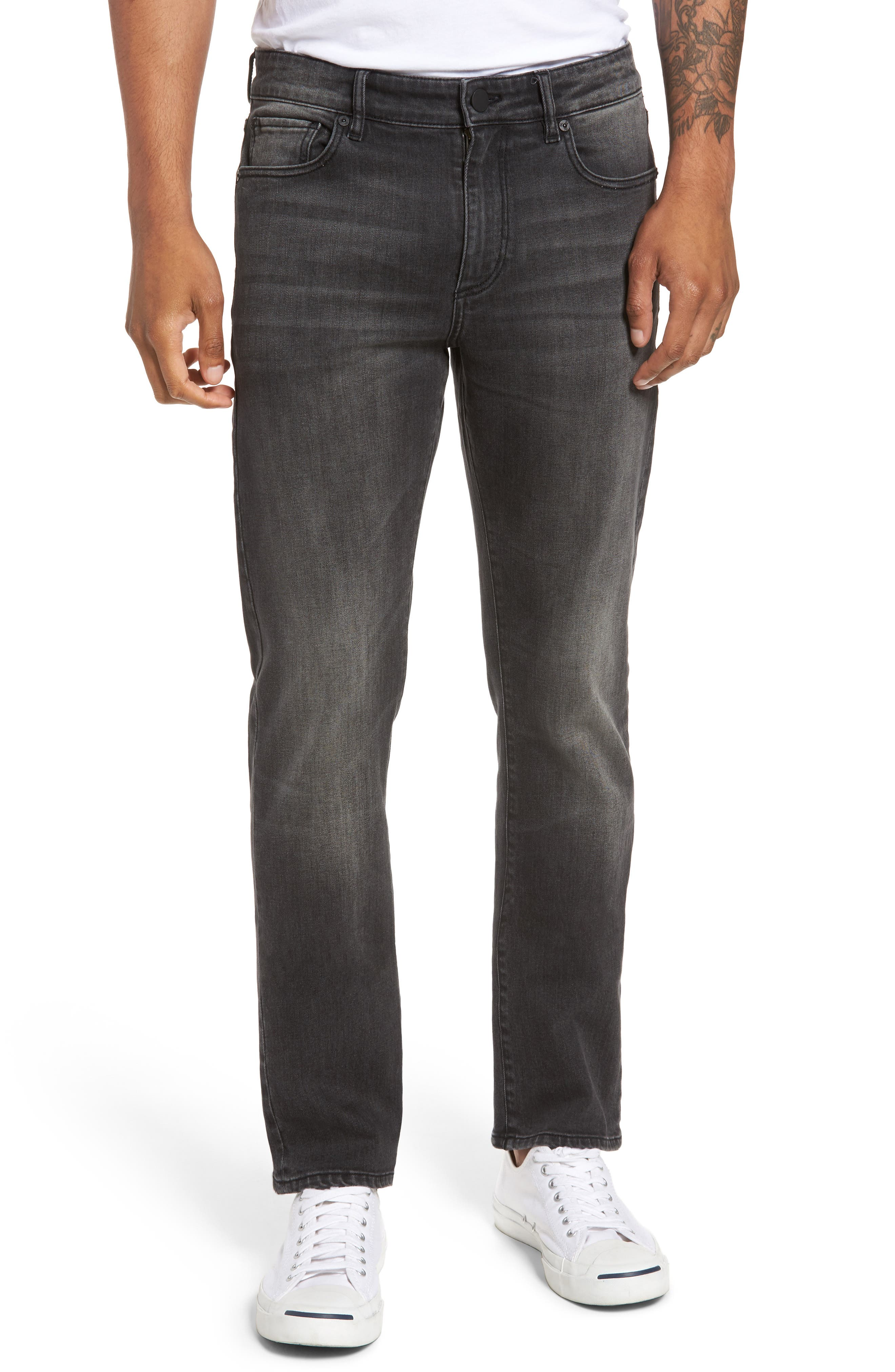 Russell Slim Straight Fit Jeans,                             Main thumbnail 1, color,                             020