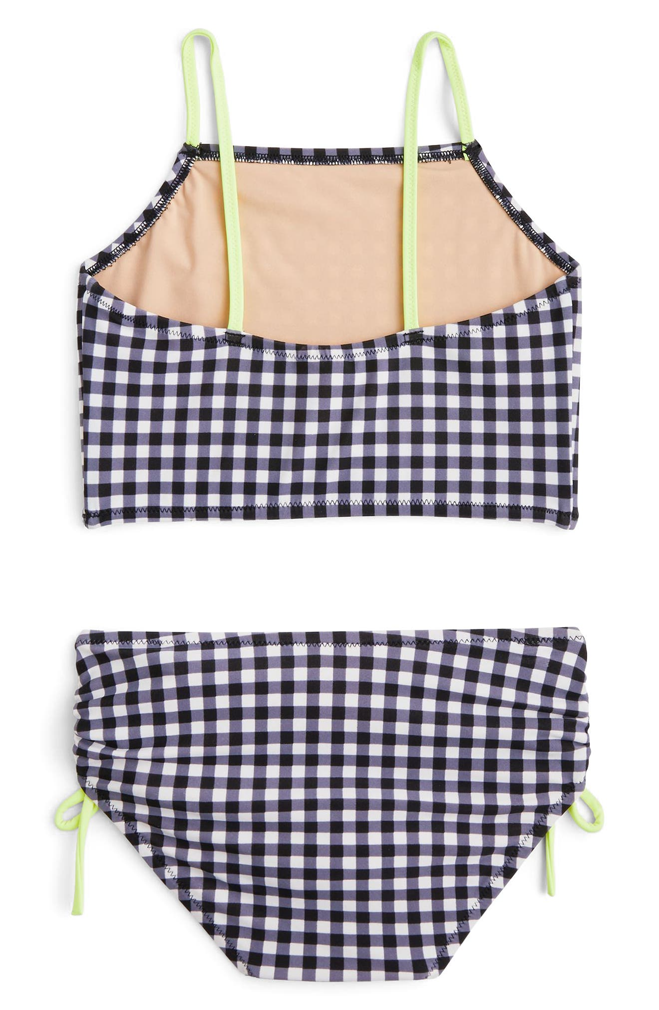 CREWCUTS BY J.CREW,                             Leia Gingham Two-Piece Swimsuit,                             Alternate thumbnail 2, color,                             001