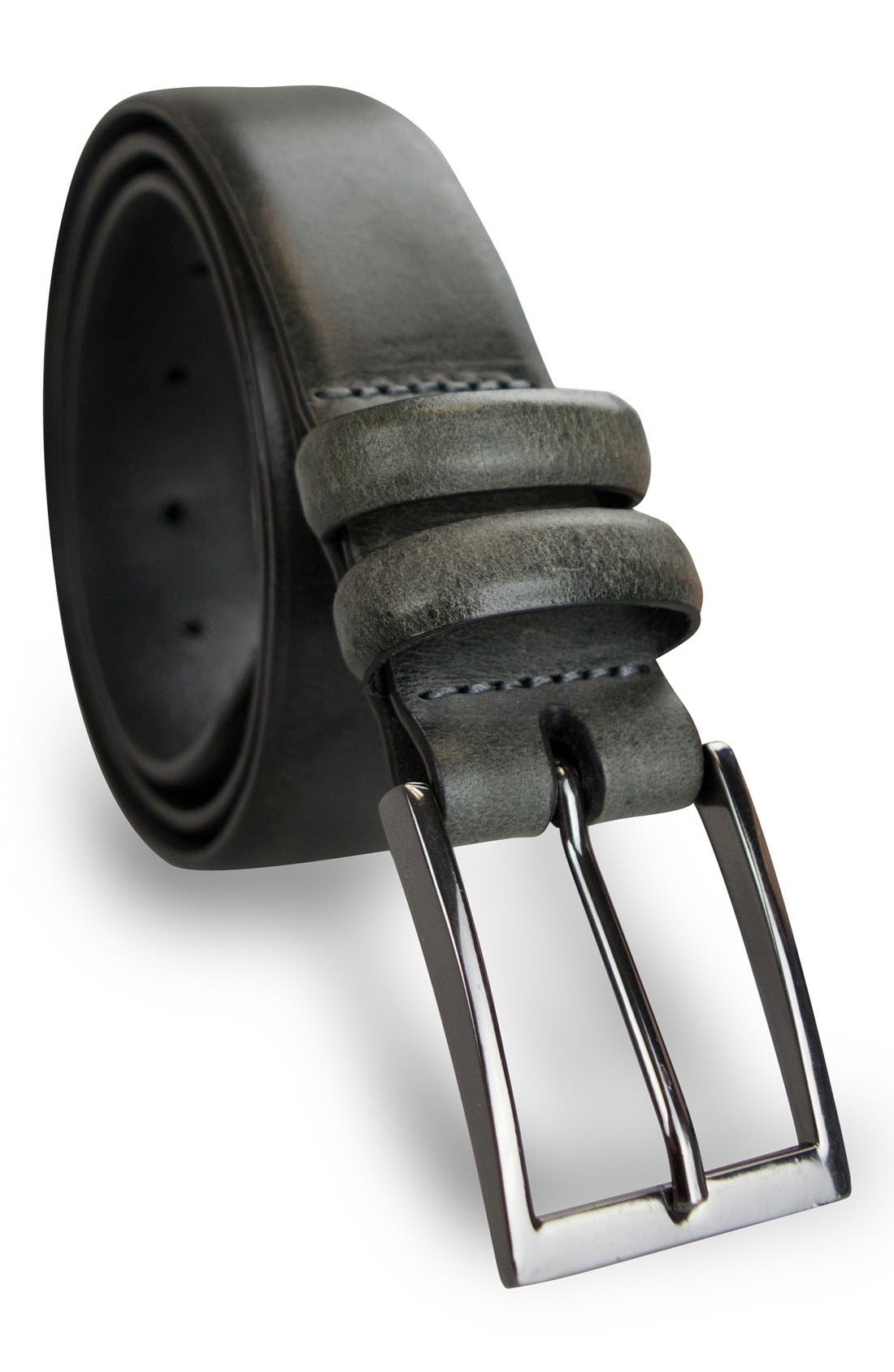 Leather Belt,                             Alternate thumbnail 2, color,                             001