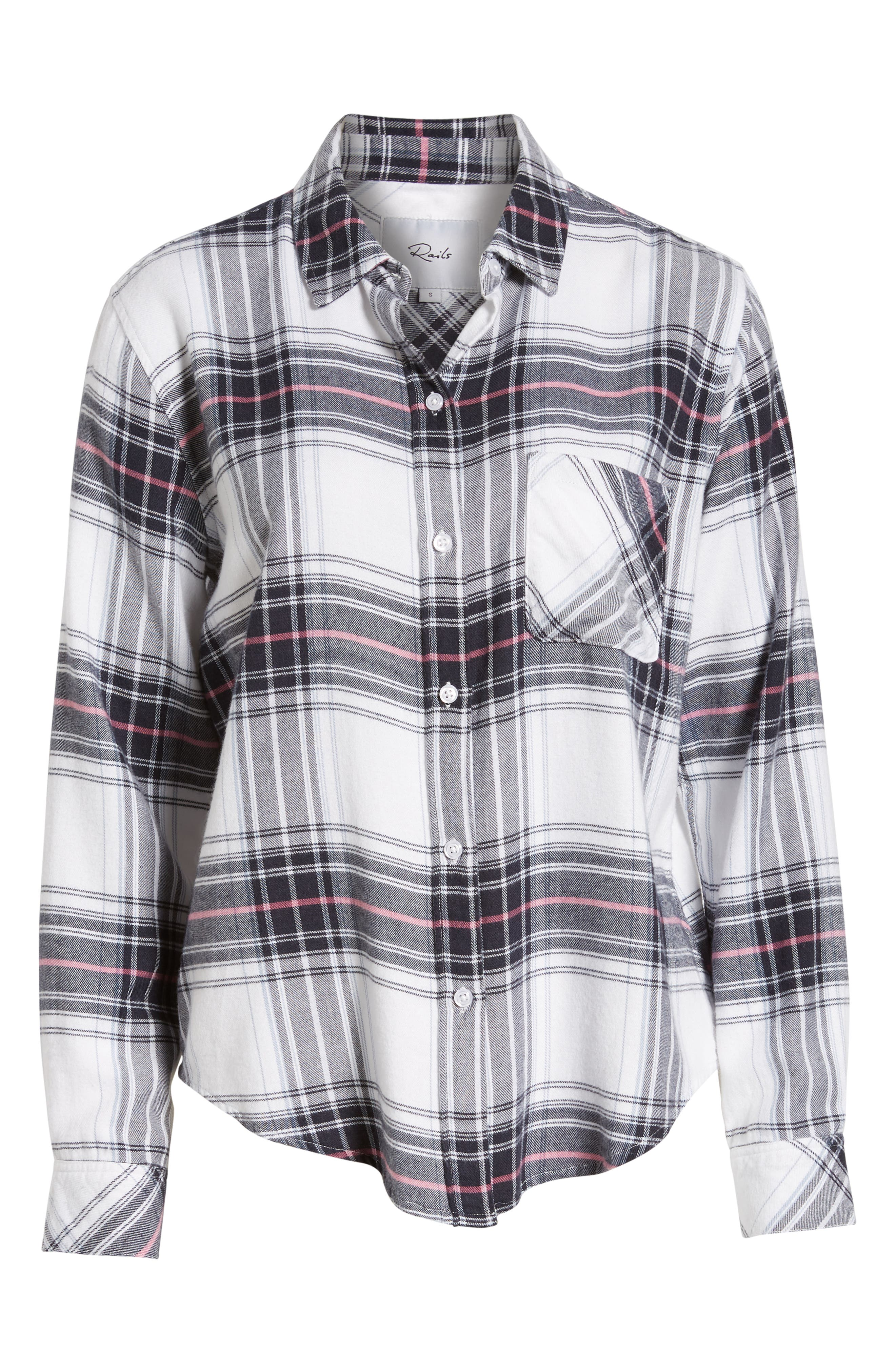 Milo Plaid Shirt,                             Alternate thumbnail 6, color,                             WHITE NAVY MAGENTA