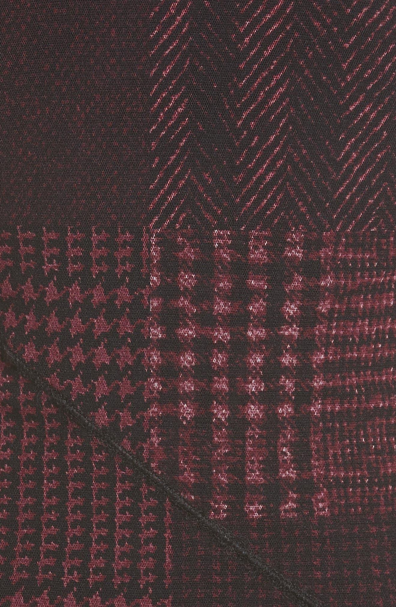 Long Sleeve Tulle Midi Dress,                             Alternate thumbnail 5, color,                             930