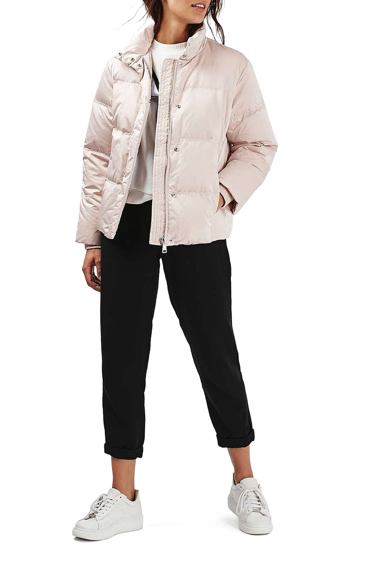 TOPSHOP Emily Puffer Jacket, Main, color, 650