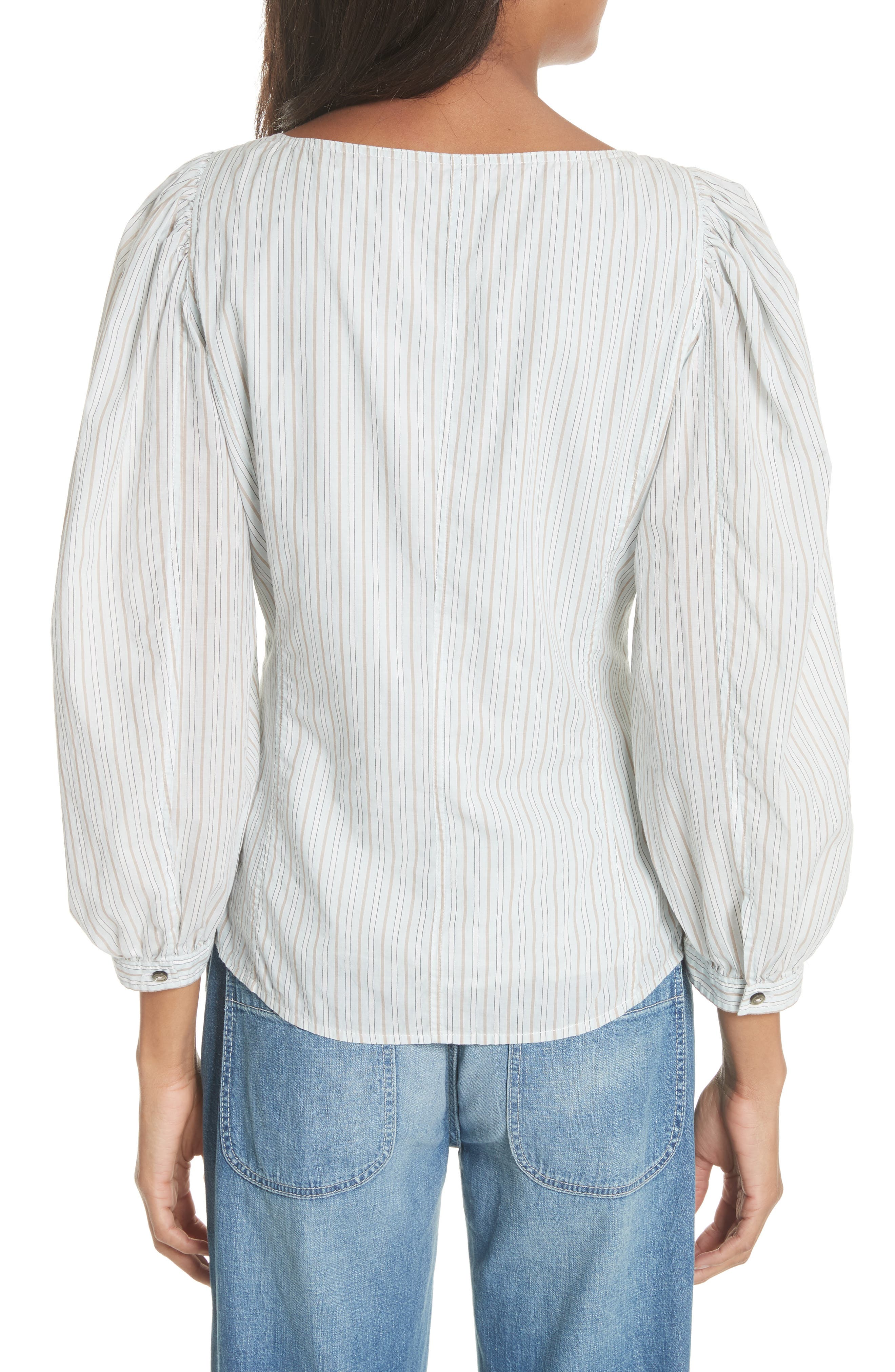 Mixed Stripe Top,                             Alternate thumbnail 2, color,                             186