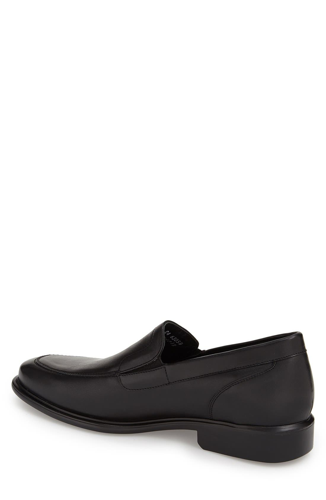 'Chancellor' Venetian Loafer,                             Alternate thumbnail 2, color,                             BLACK