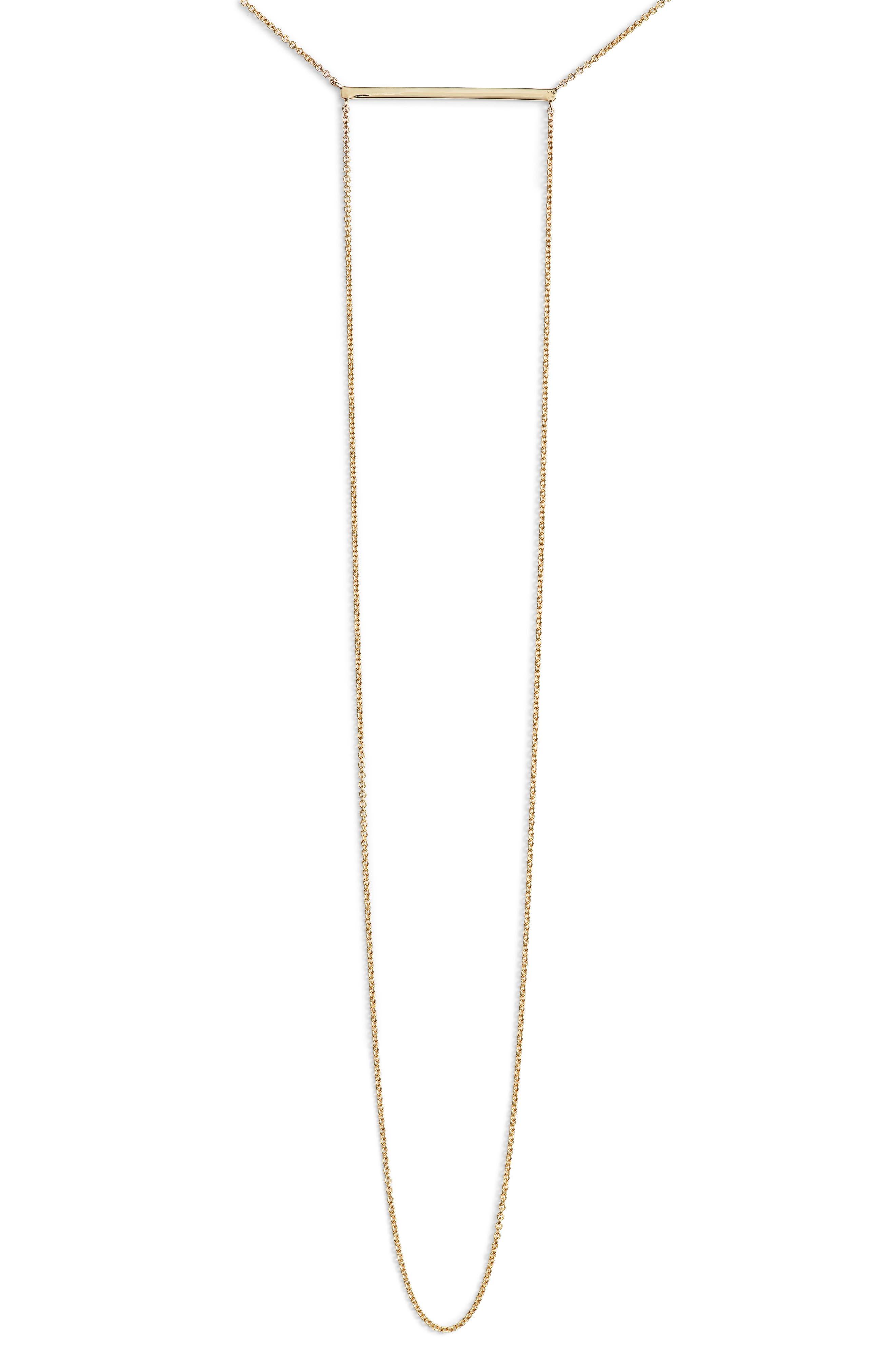 Drama Bar Pendant Necklace,                         Main,                         color, YELLOW GOLD
