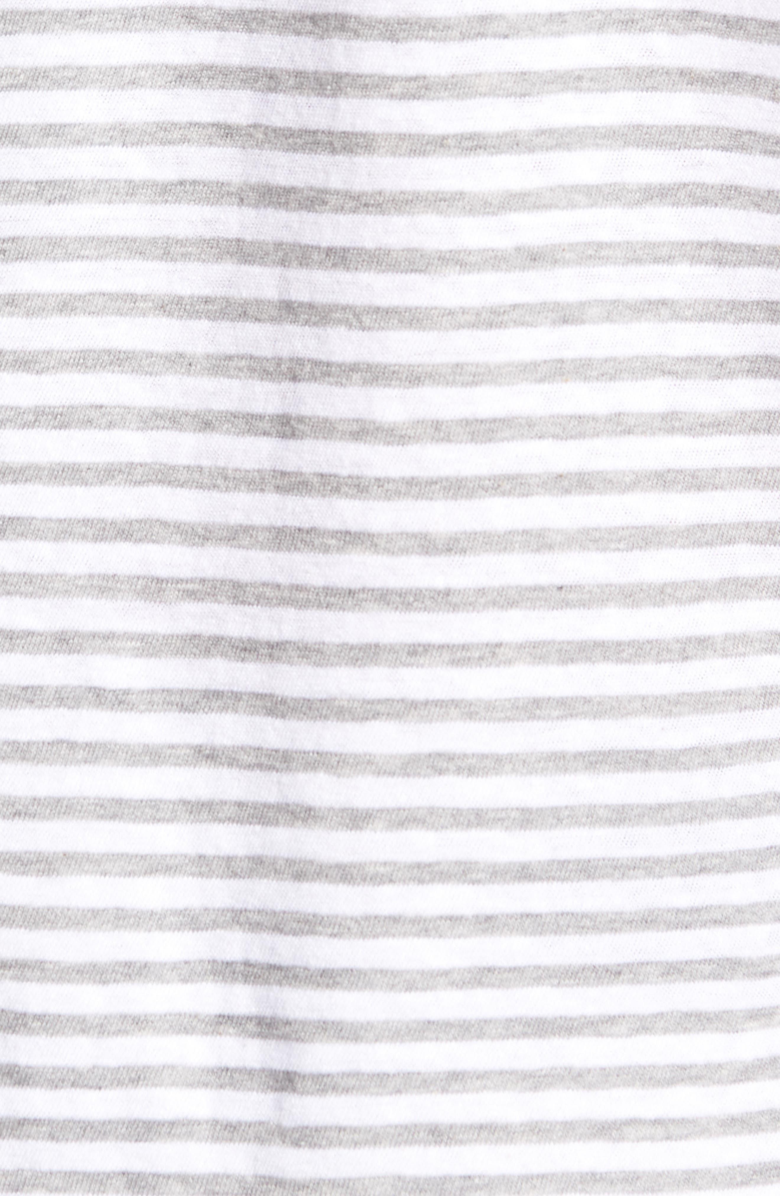 & Bros. Stripe Crewneck T-Shirt,                             Alternate thumbnail 5, color,                             WHITE STRIPE