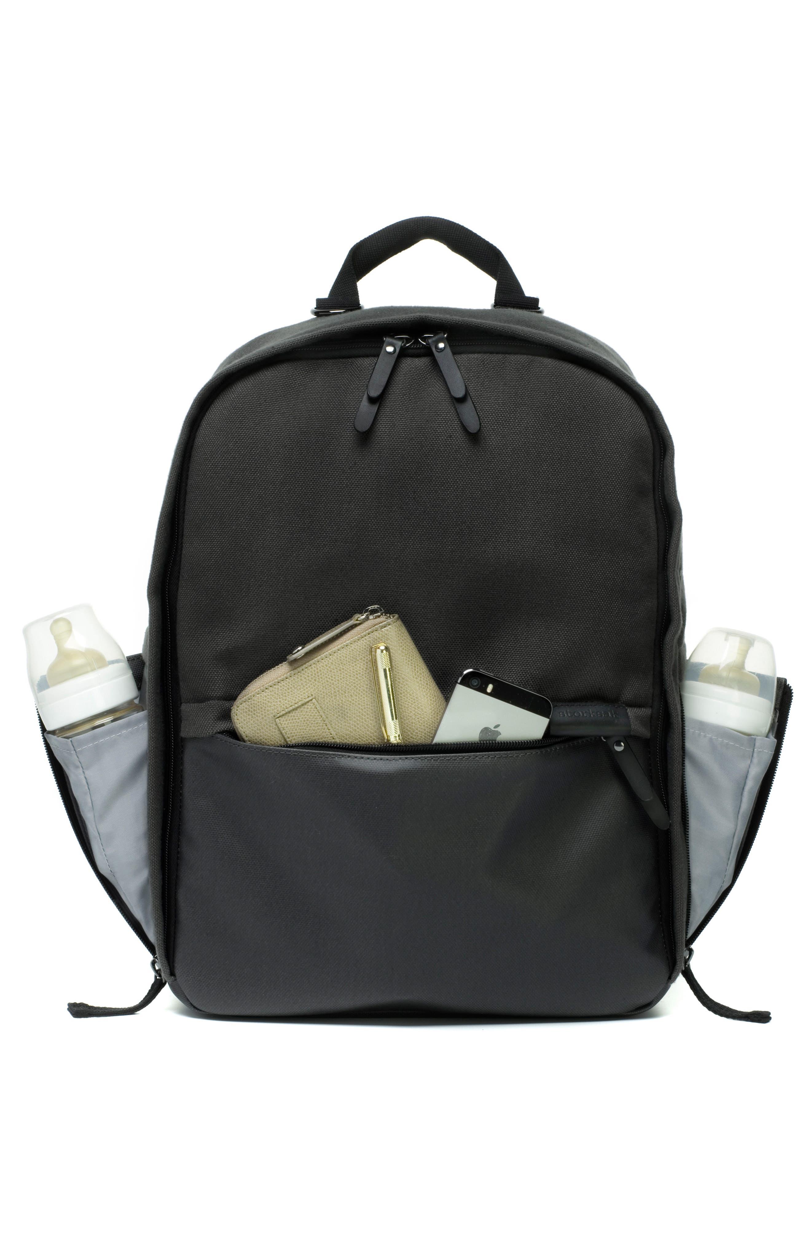 Taylor Diaper Backpack,                             Alternate thumbnail 6, color,                             BLACK