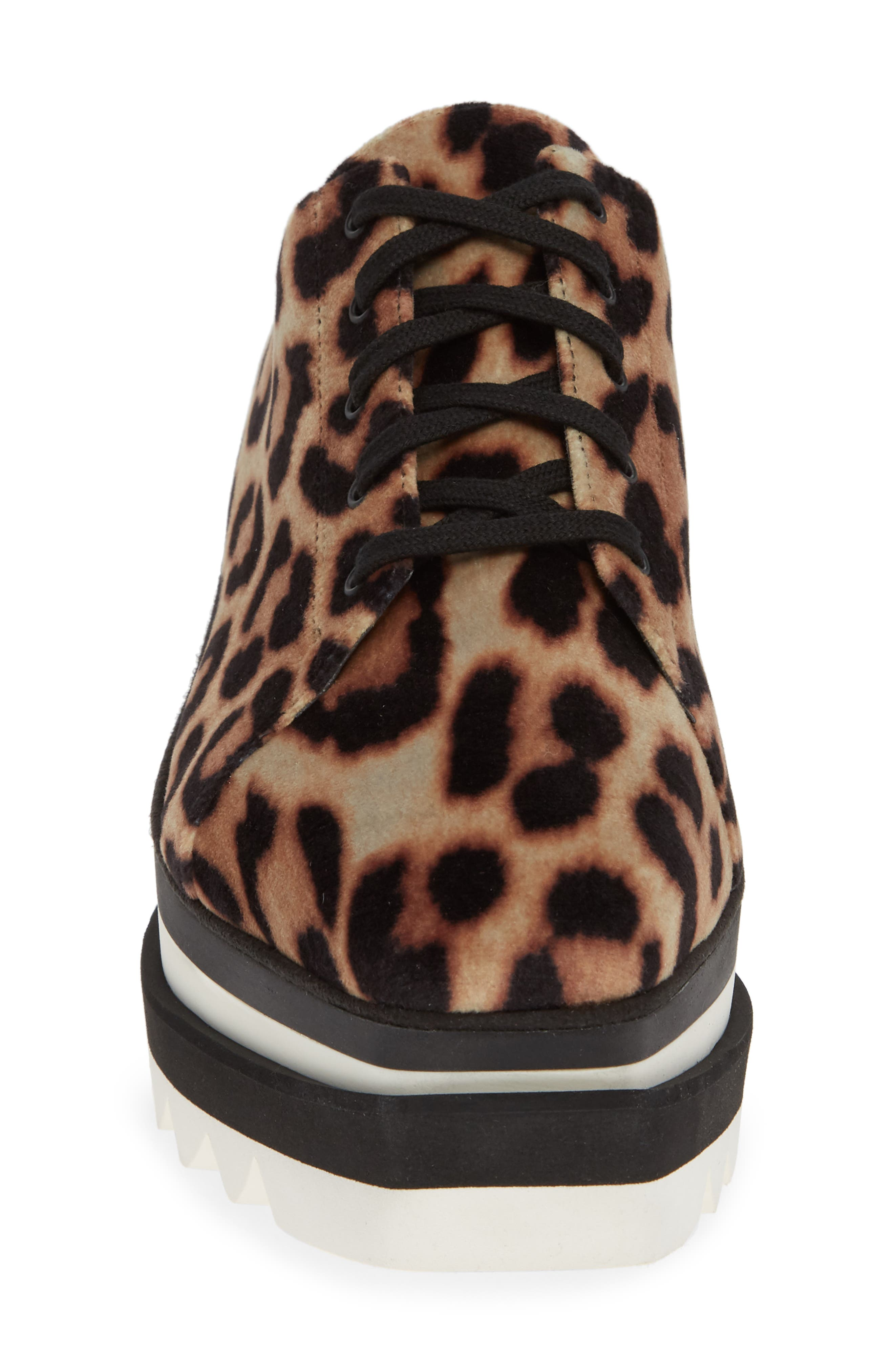 Sneak-Elyse Platform Mule,                             Alternate thumbnail 4, color,                             LEOPARD PRINT