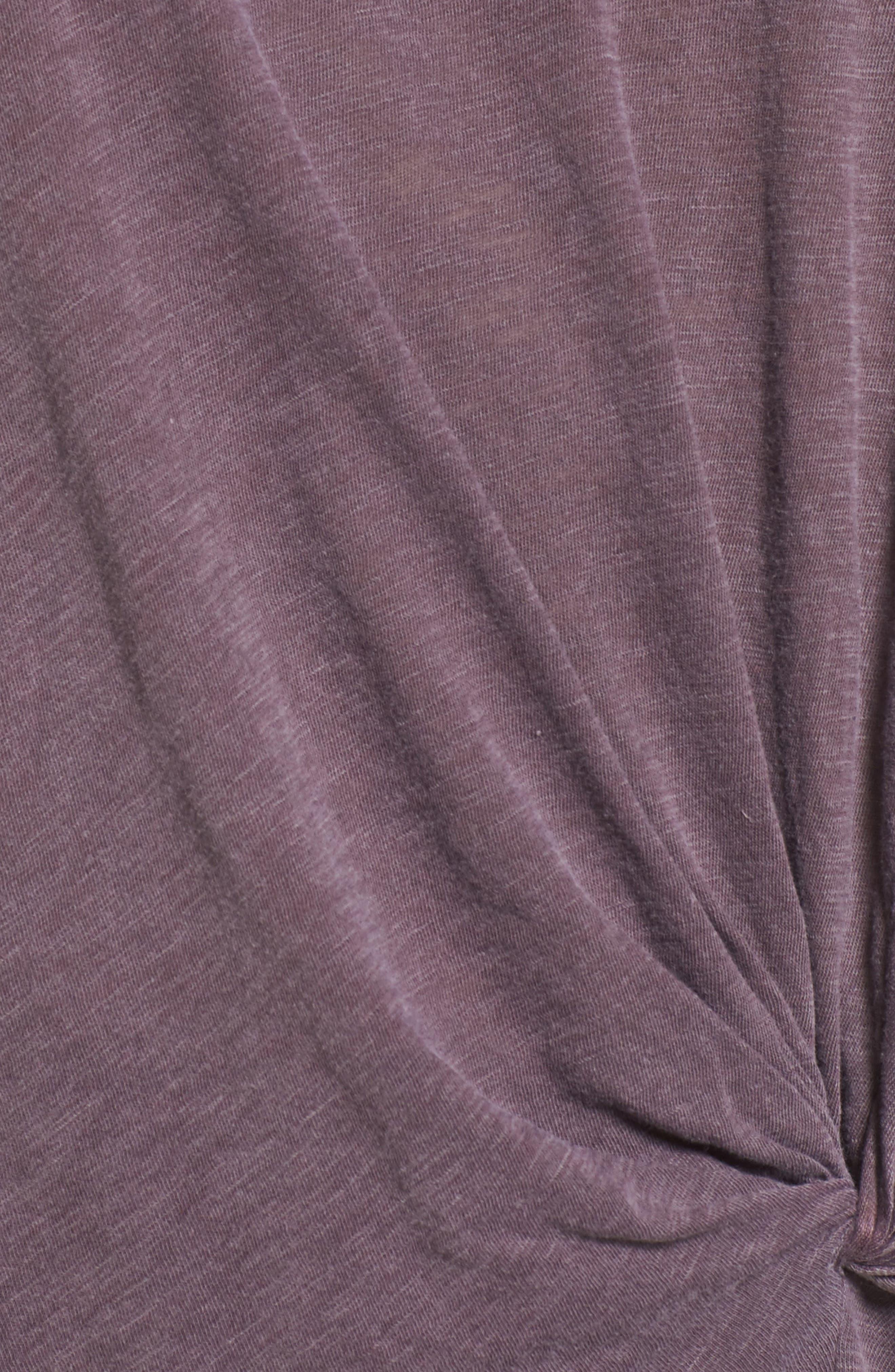 Knot Detail Slub Knit Tee,                             Alternate thumbnail 54, color,