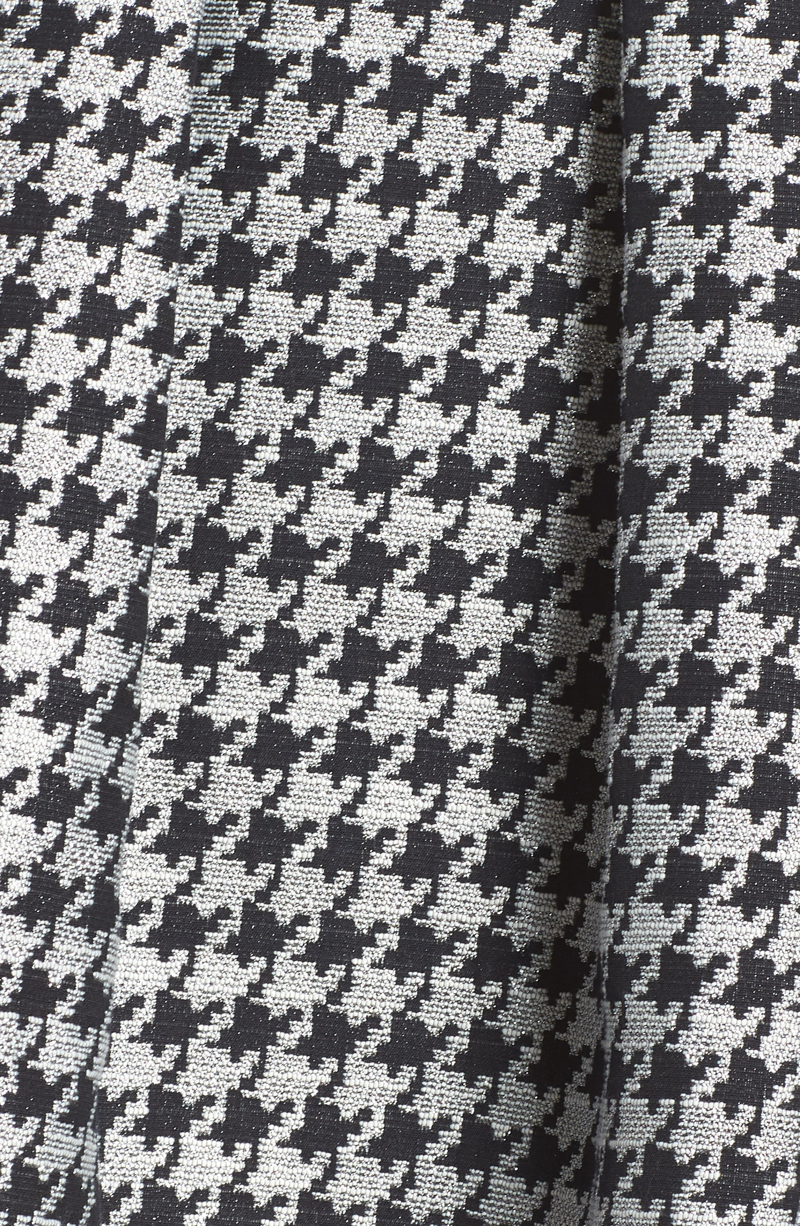 Houndstooth Pleated Skirt,                             Alternate thumbnail 6, color,                             001