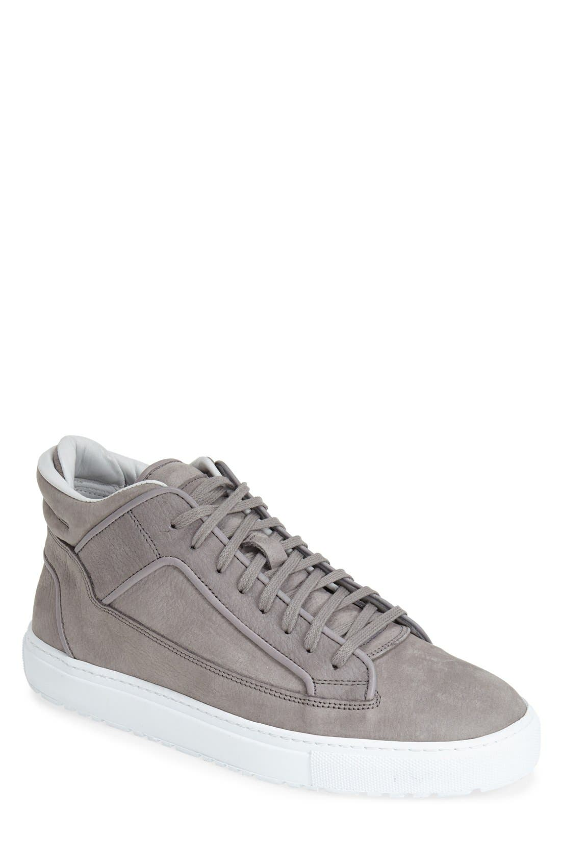 Leather Mid Top Sneaker,                             Main thumbnail 1, color,                             032