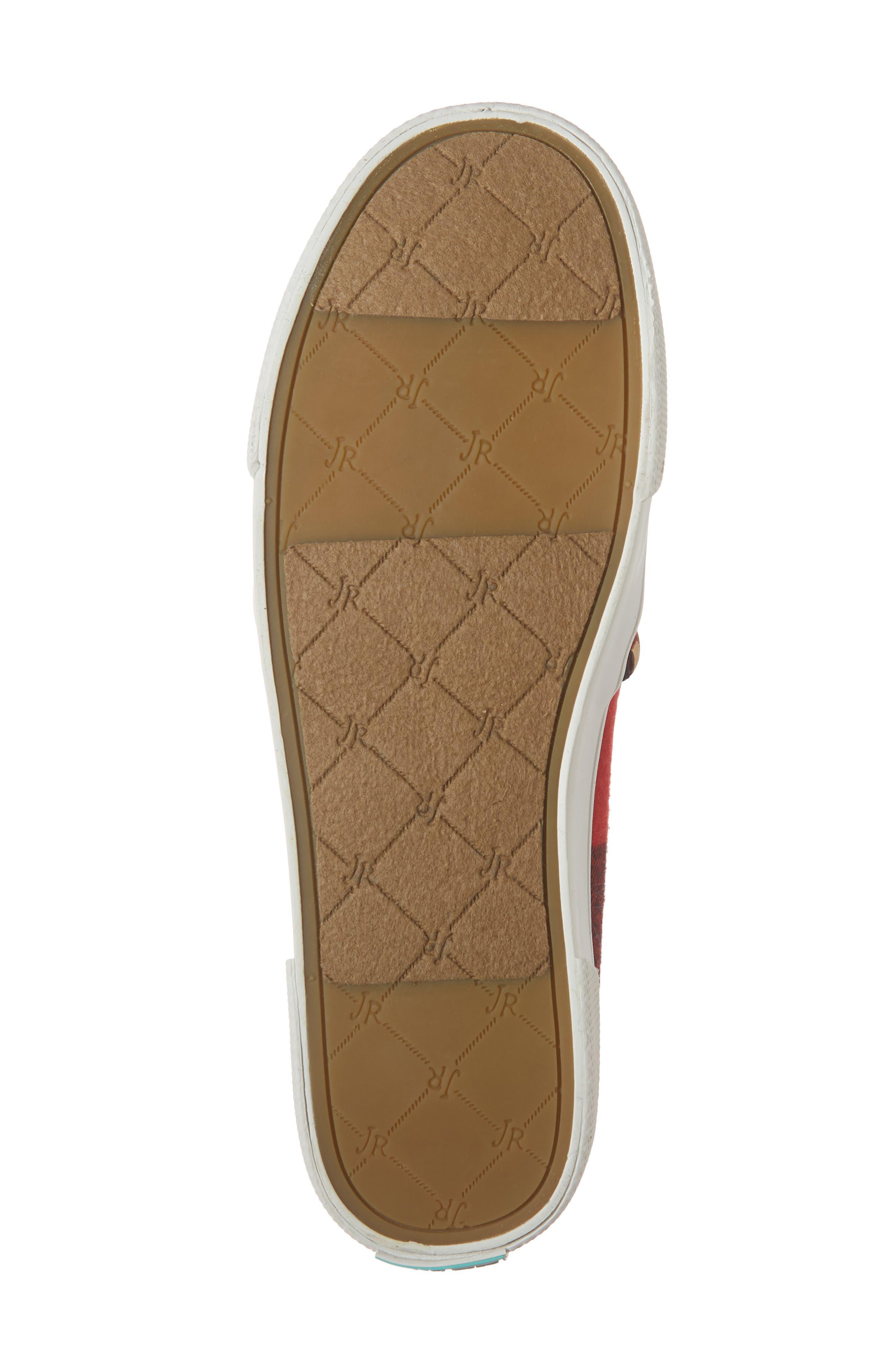Brynne Slip-On Sneaker,                             Alternate thumbnail 6, color,                             RED/ BLACK FABRIC