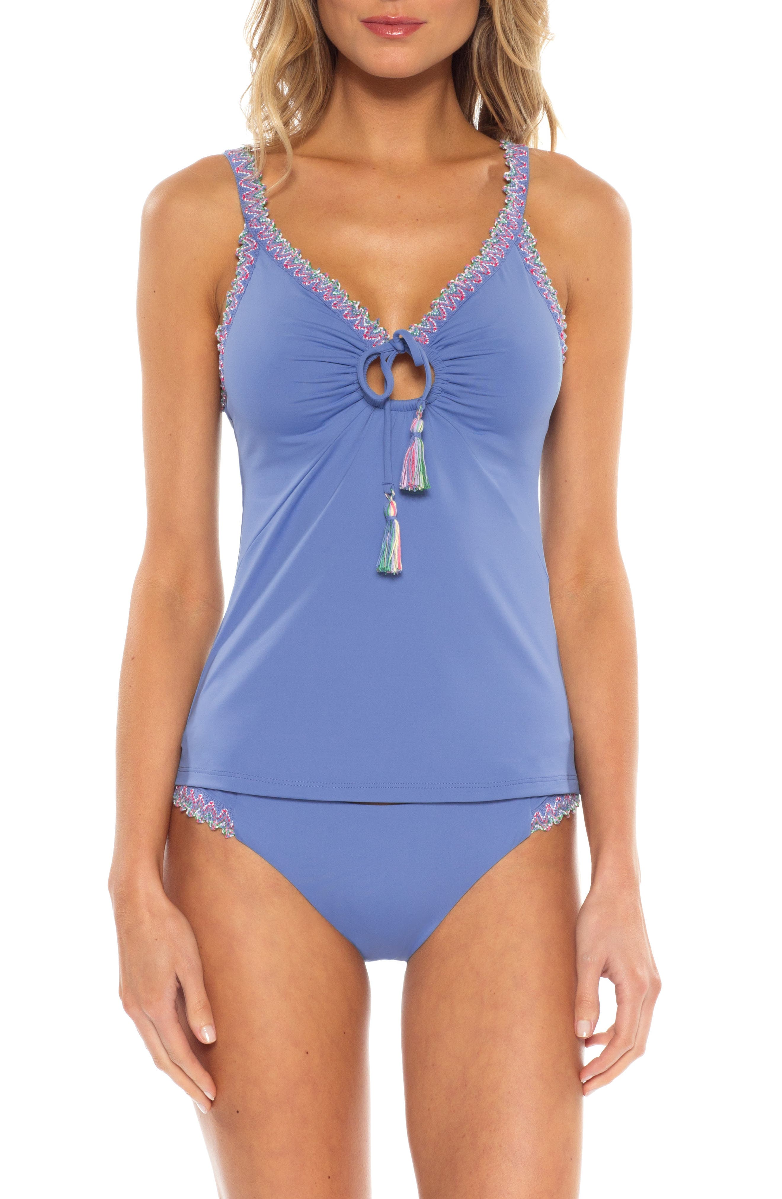 Becca Mardi Gras Tankini Top, Blue