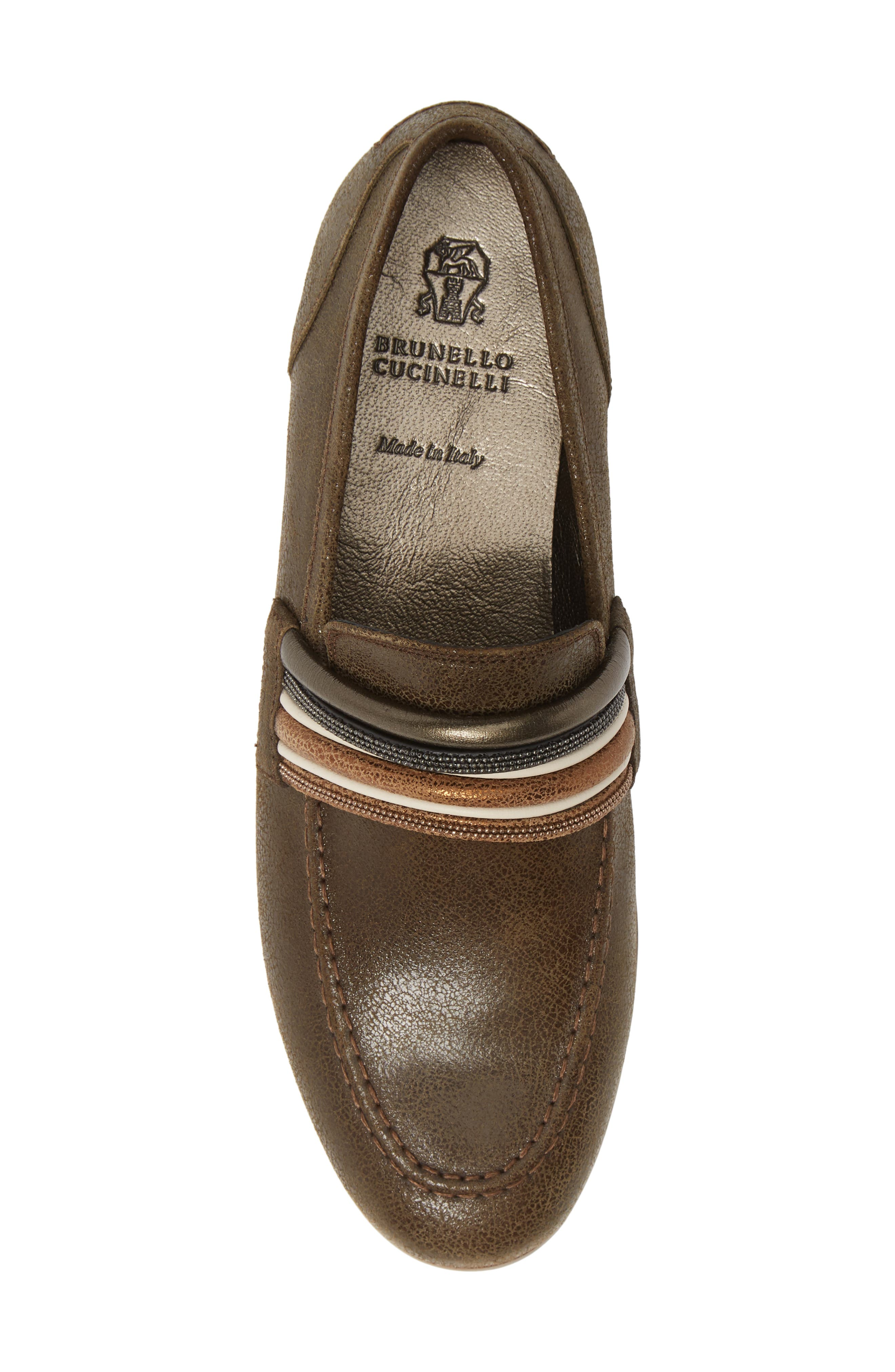 Tubular Loafer,                             Alternate thumbnail 5, color,                             MUD BROWN