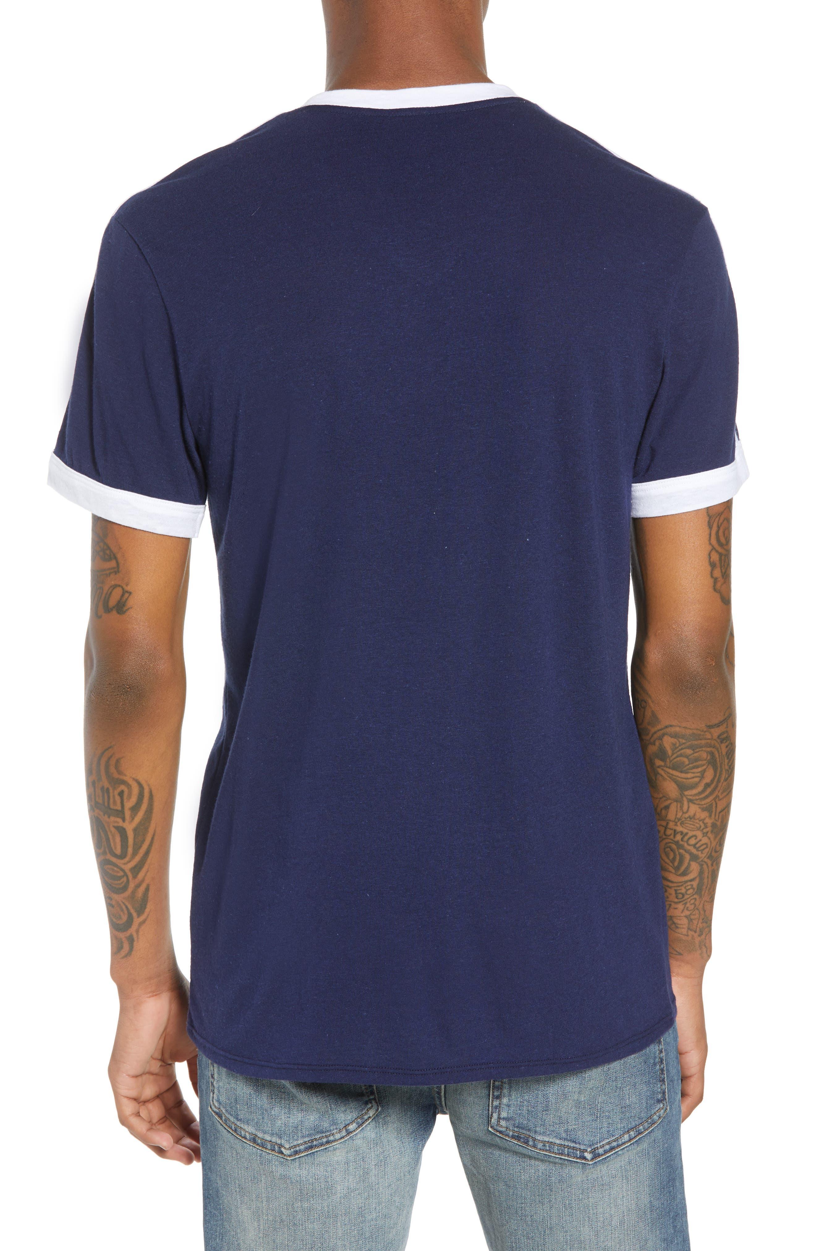 Vintage Athletic V-Neck T-Shirt,                             Alternate thumbnail 2, color,                             410