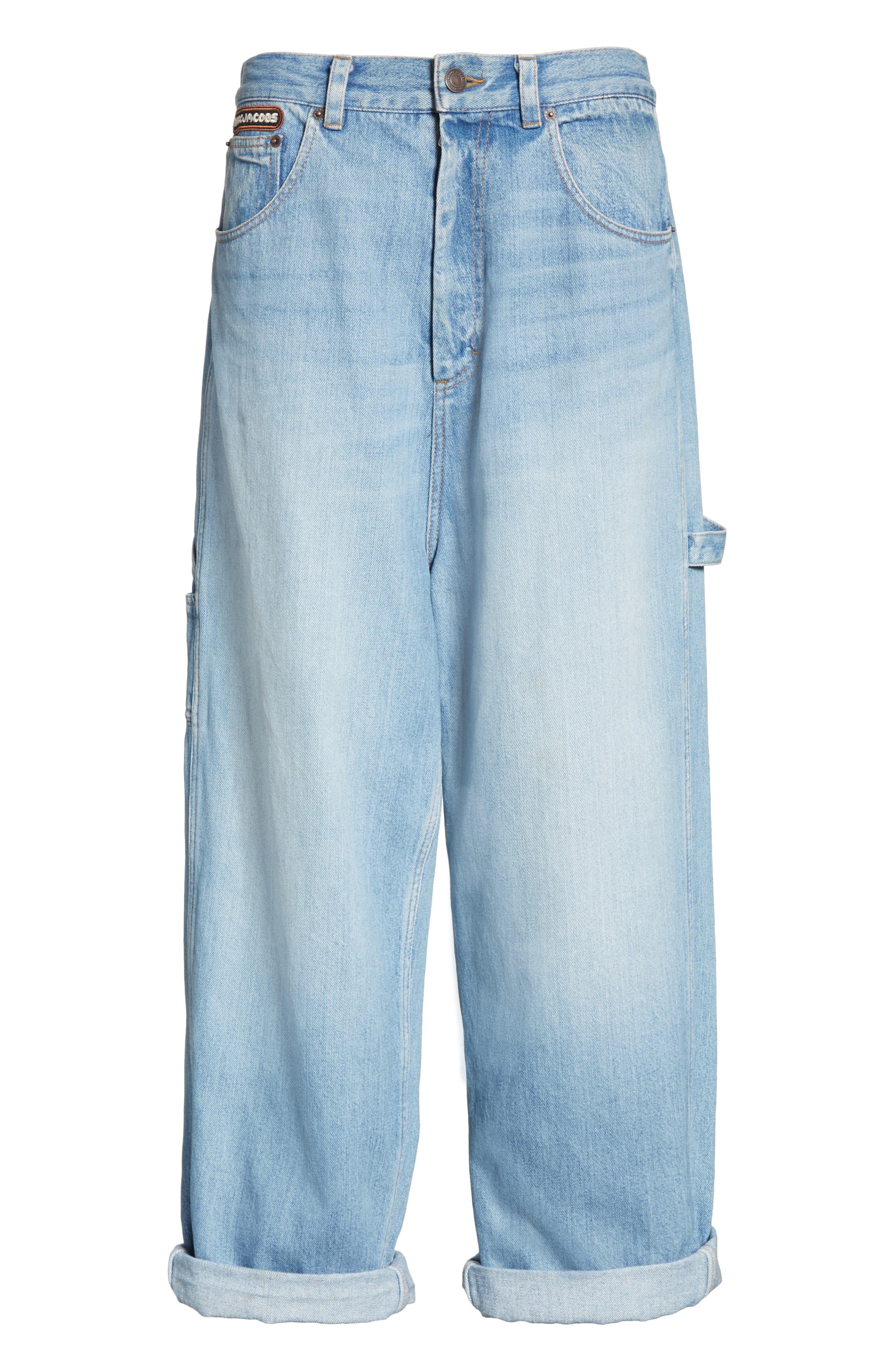 Wide Leg Carpenter Jeans,                             Alternate thumbnail 6, color,                             489