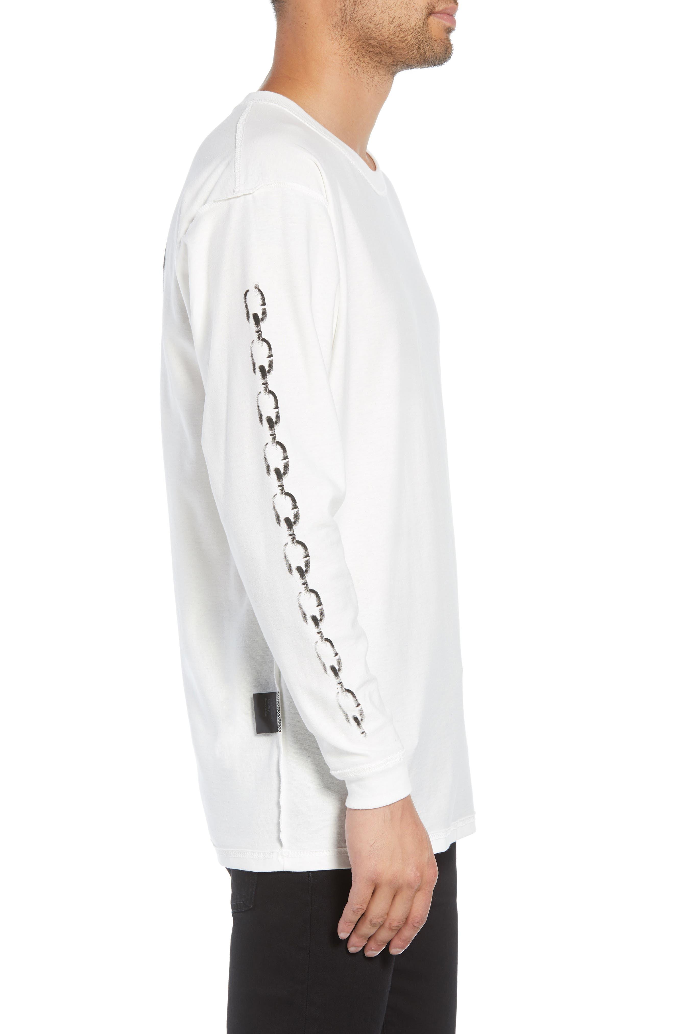 Represent Records Long Sleeve T-Shirt,                             Alternate thumbnail 3, color,                             WHITE