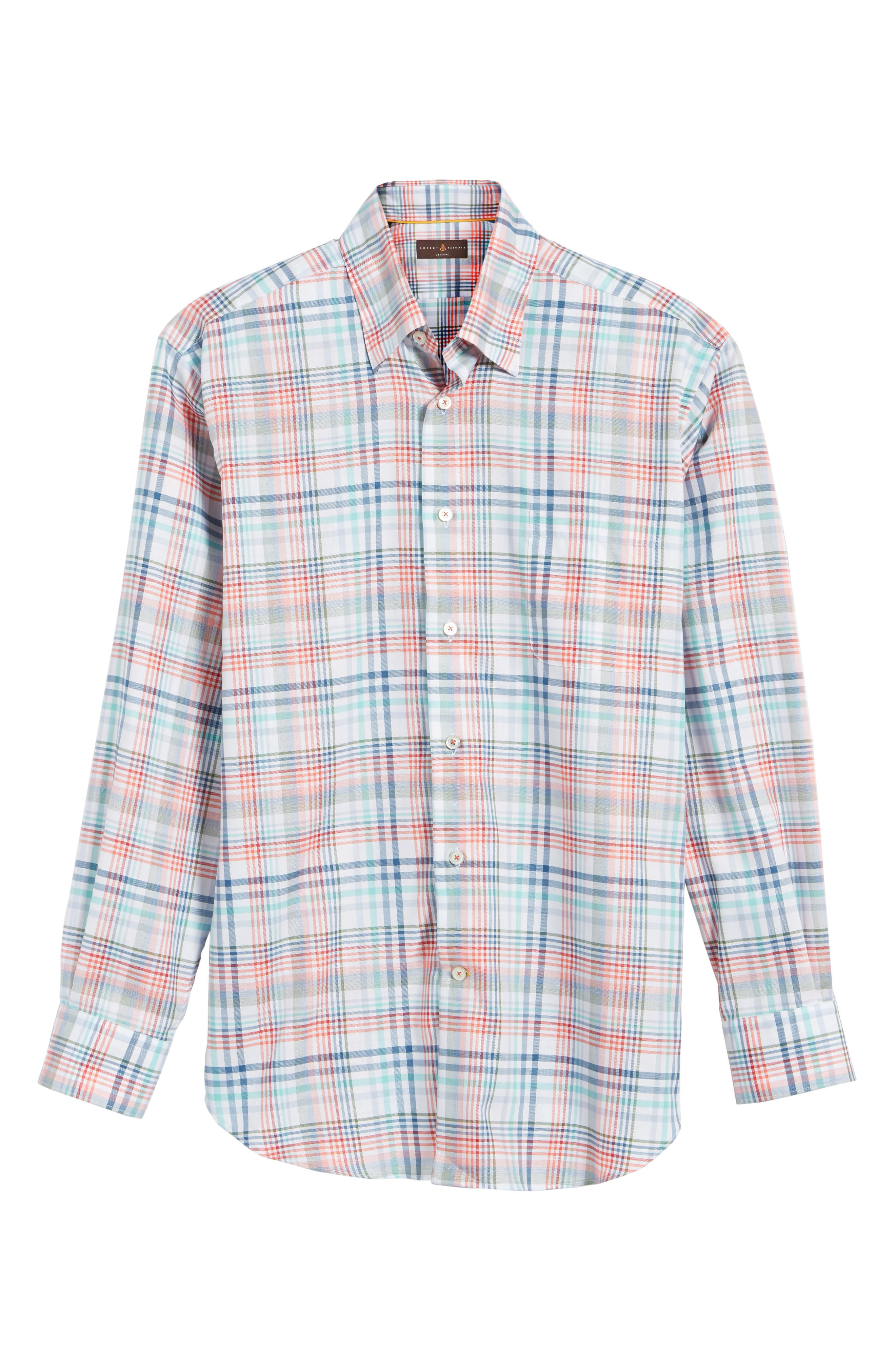 ROBERT TALBOTT,                             Anderson Classic Fit Plaid Twill Sport Shirt,                             Alternate thumbnail 6, color,                             860