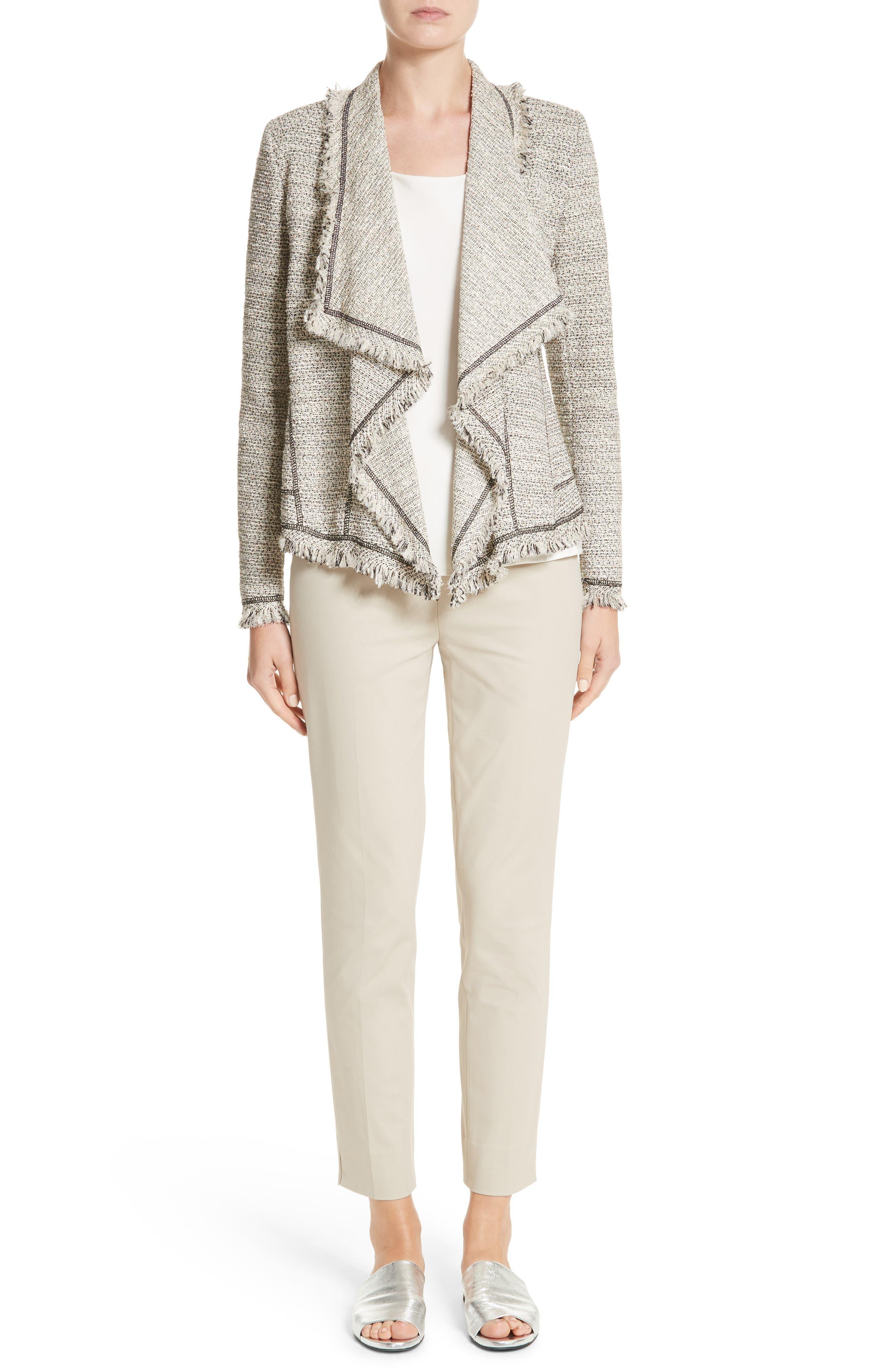 Eugena Drape Tweed Jacket,                             Alternate thumbnail 7, color,                             255
