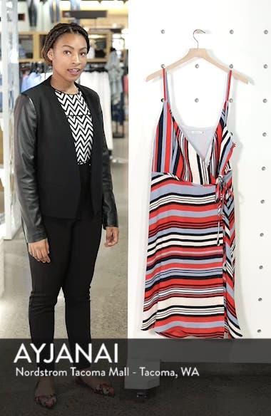 Milan Stripe Wrap Dress, sales video thumbnail
