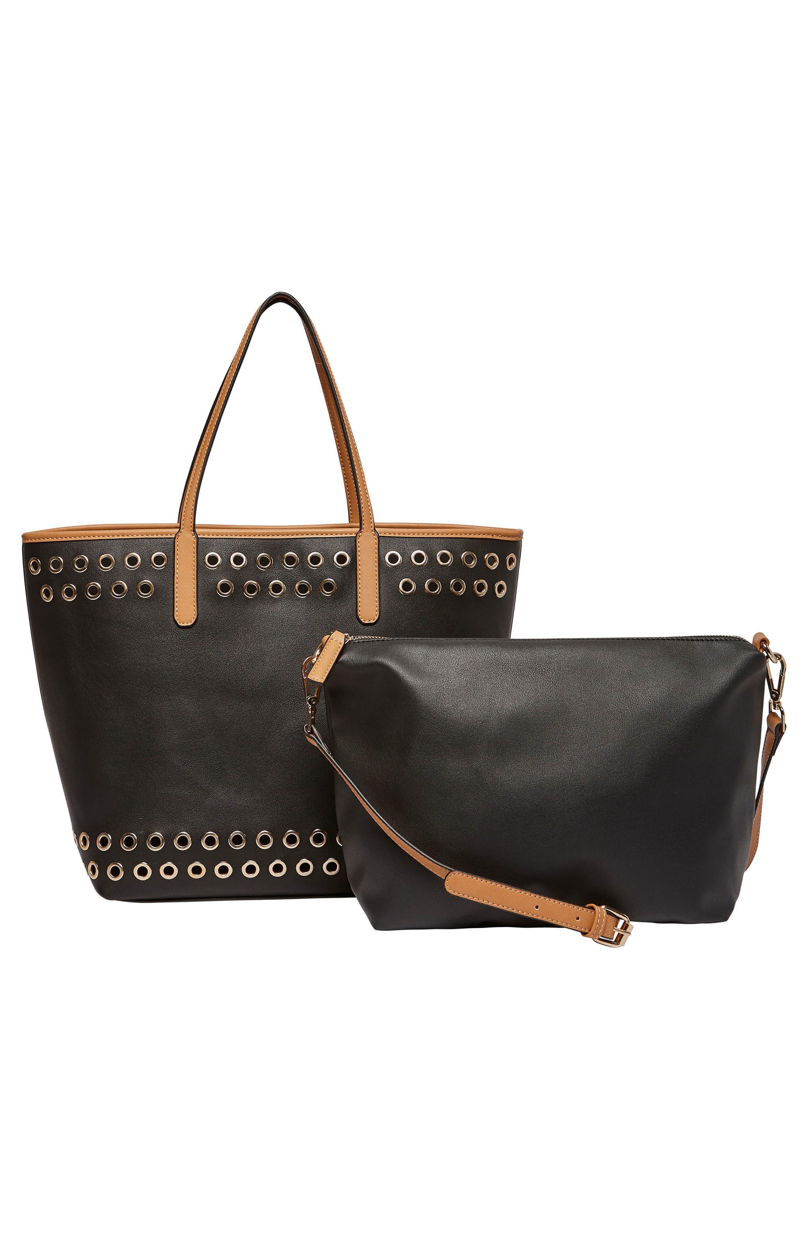 Wonderland Vegan Leather Tote & Shoulder Bag,                             Alternate thumbnail 2, color,                             001