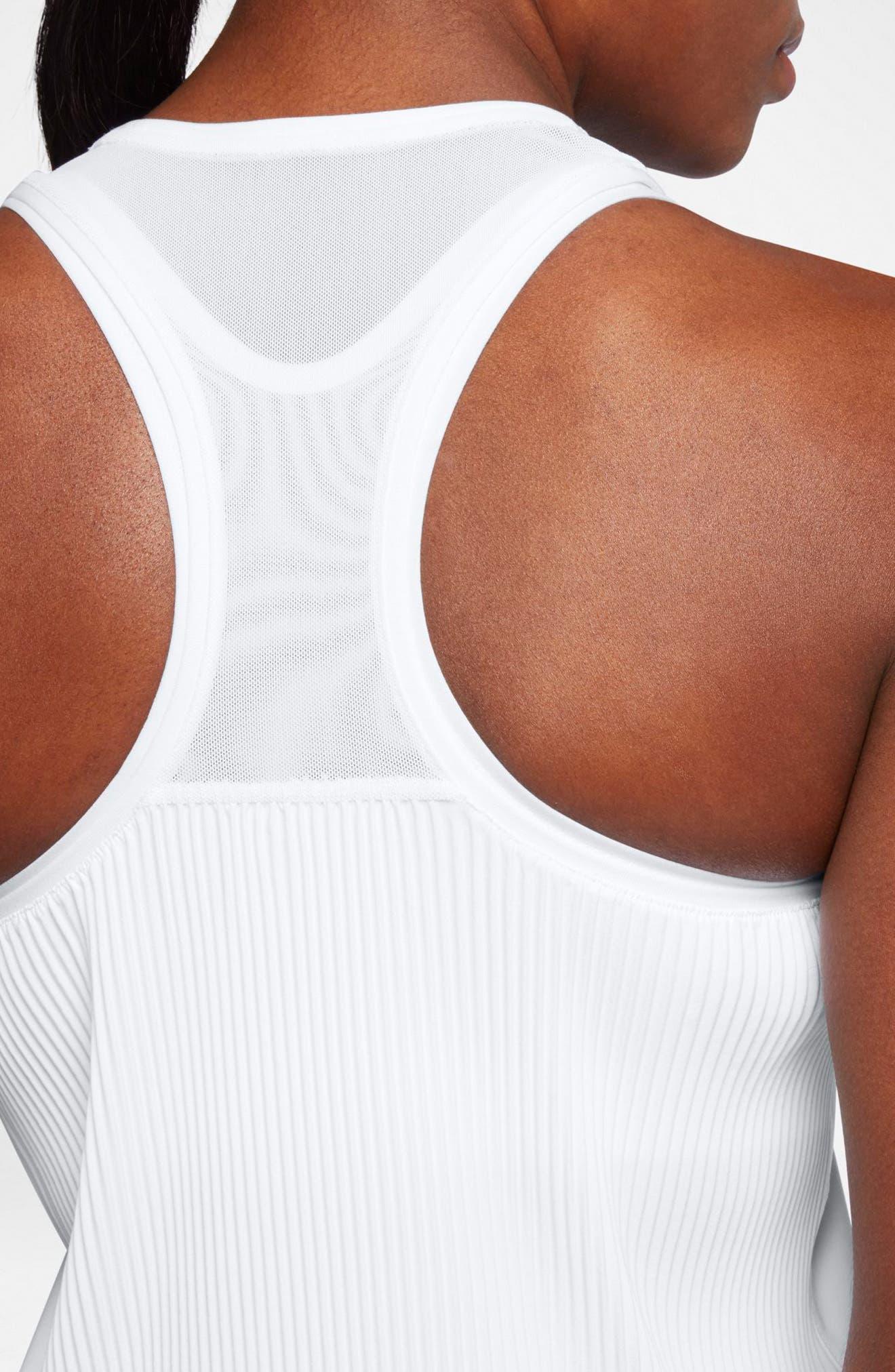 NikeCourt Breathe Maria Women's Tank,                             Alternate thumbnail 3, color,                             WHITE/ DARK GREY