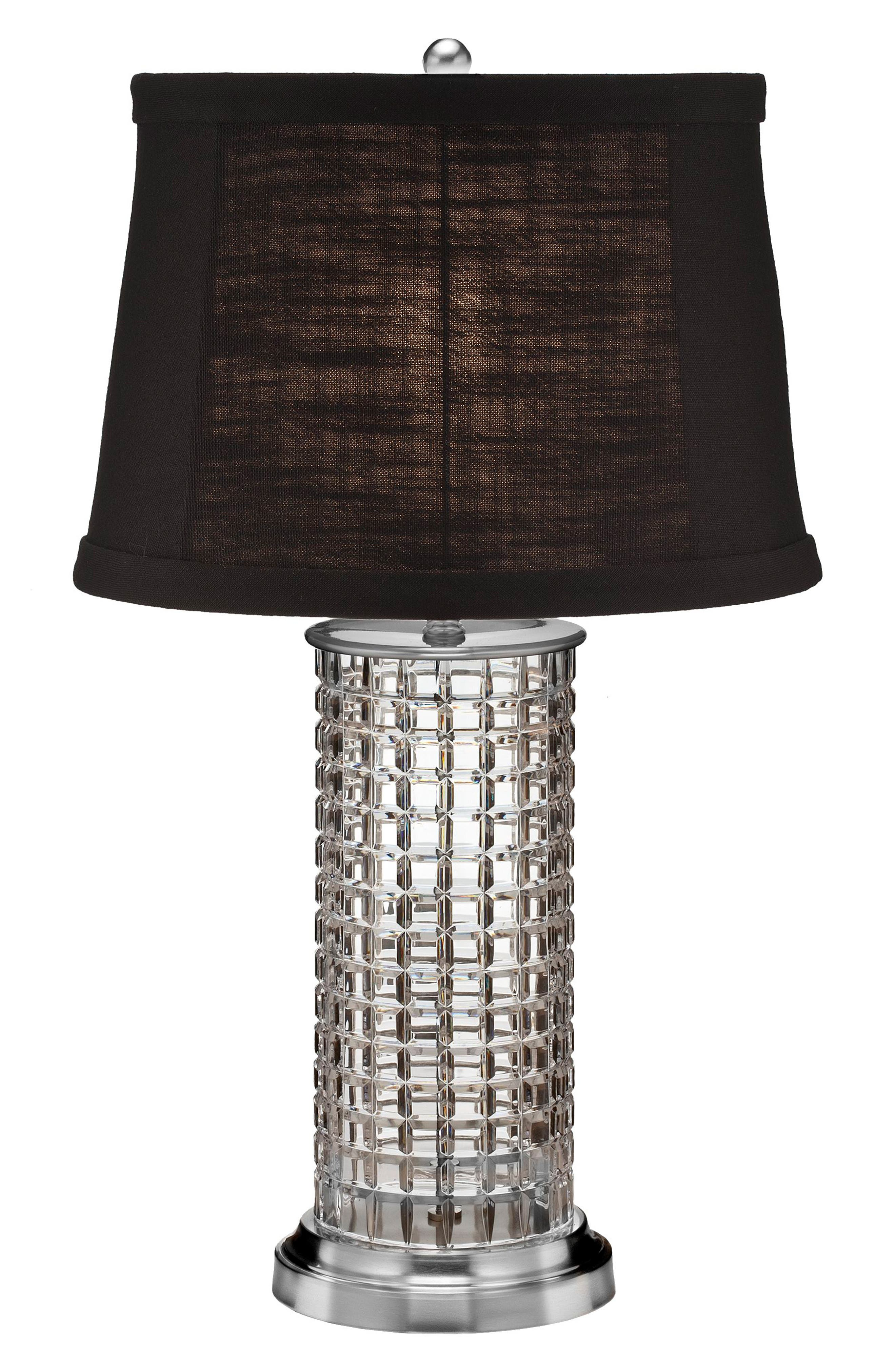Kilrush Lead Crystal & Chrome Table Lamp,                             Main thumbnail 1, color,                             100