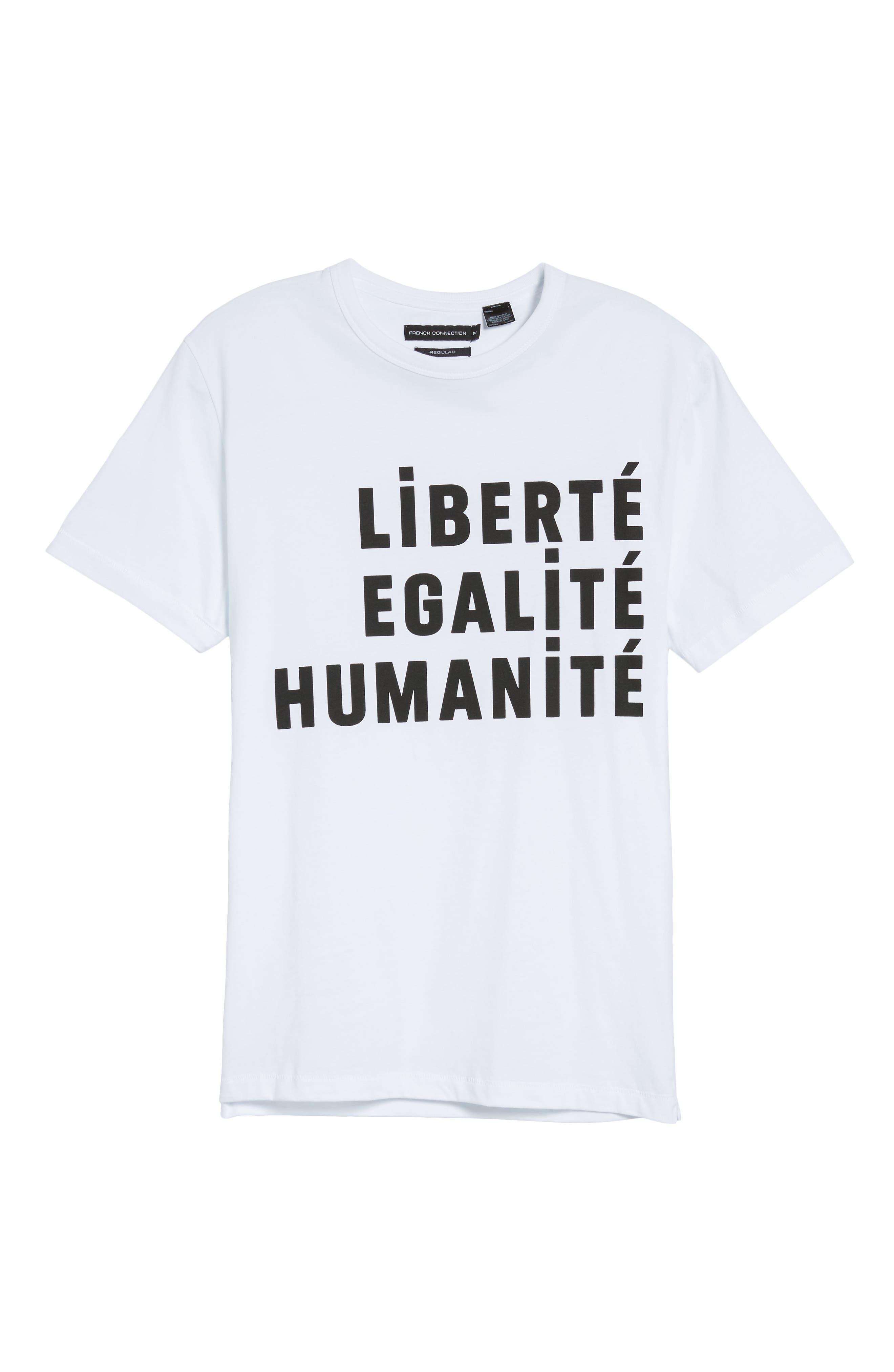 Égalité Regular Fit Graphic T-Shirt,                             Alternate thumbnail 6, color,                             100