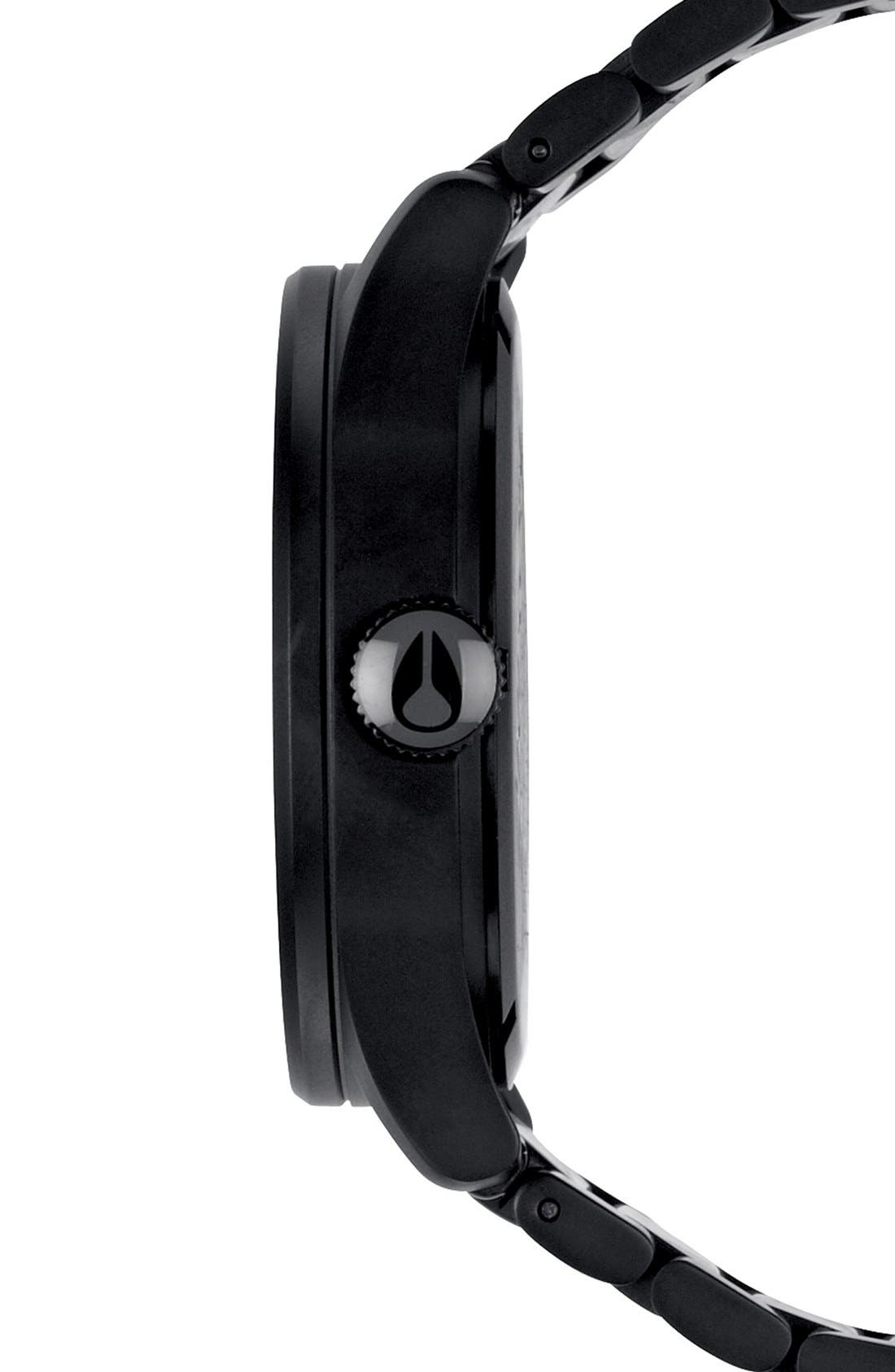 Sentry Bracelet Watch, 42mm,                             Alternate thumbnail 3, color,                             BLACK