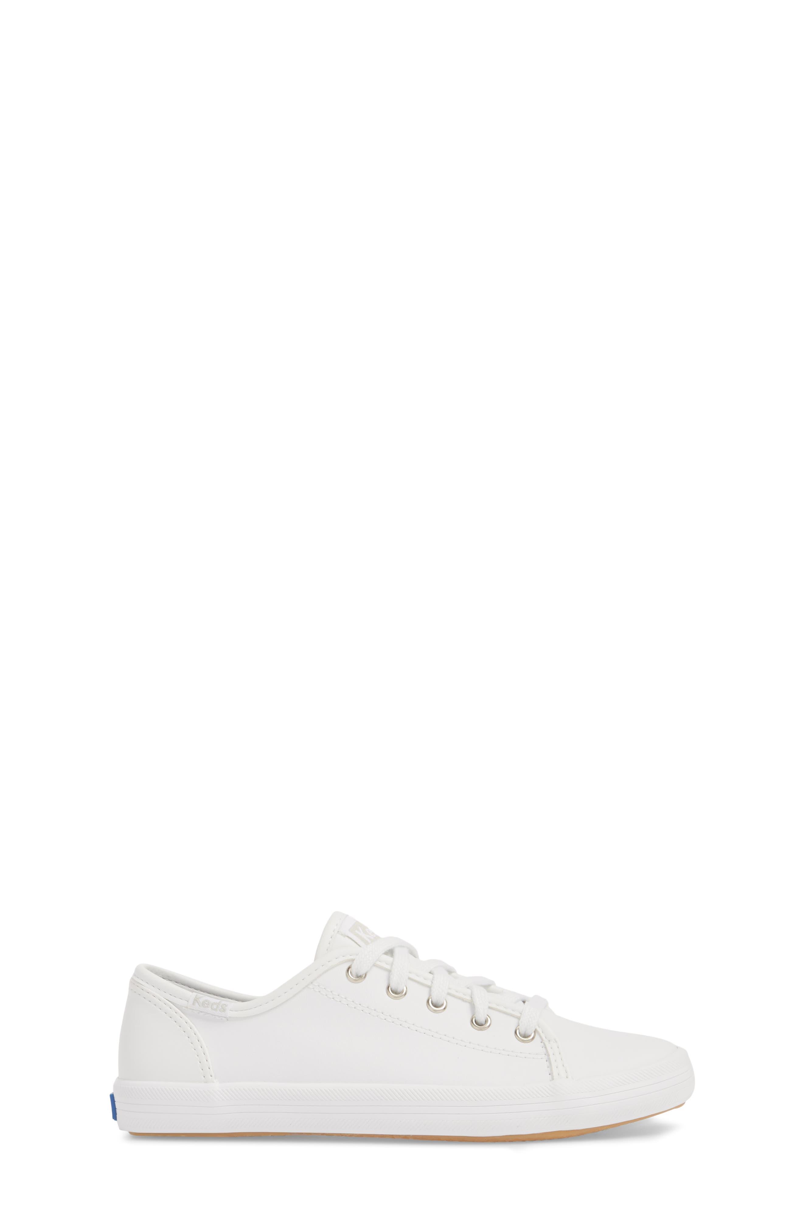 Kickstart Sneaker,                             Alternate thumbnail 3, color,                             WHITE