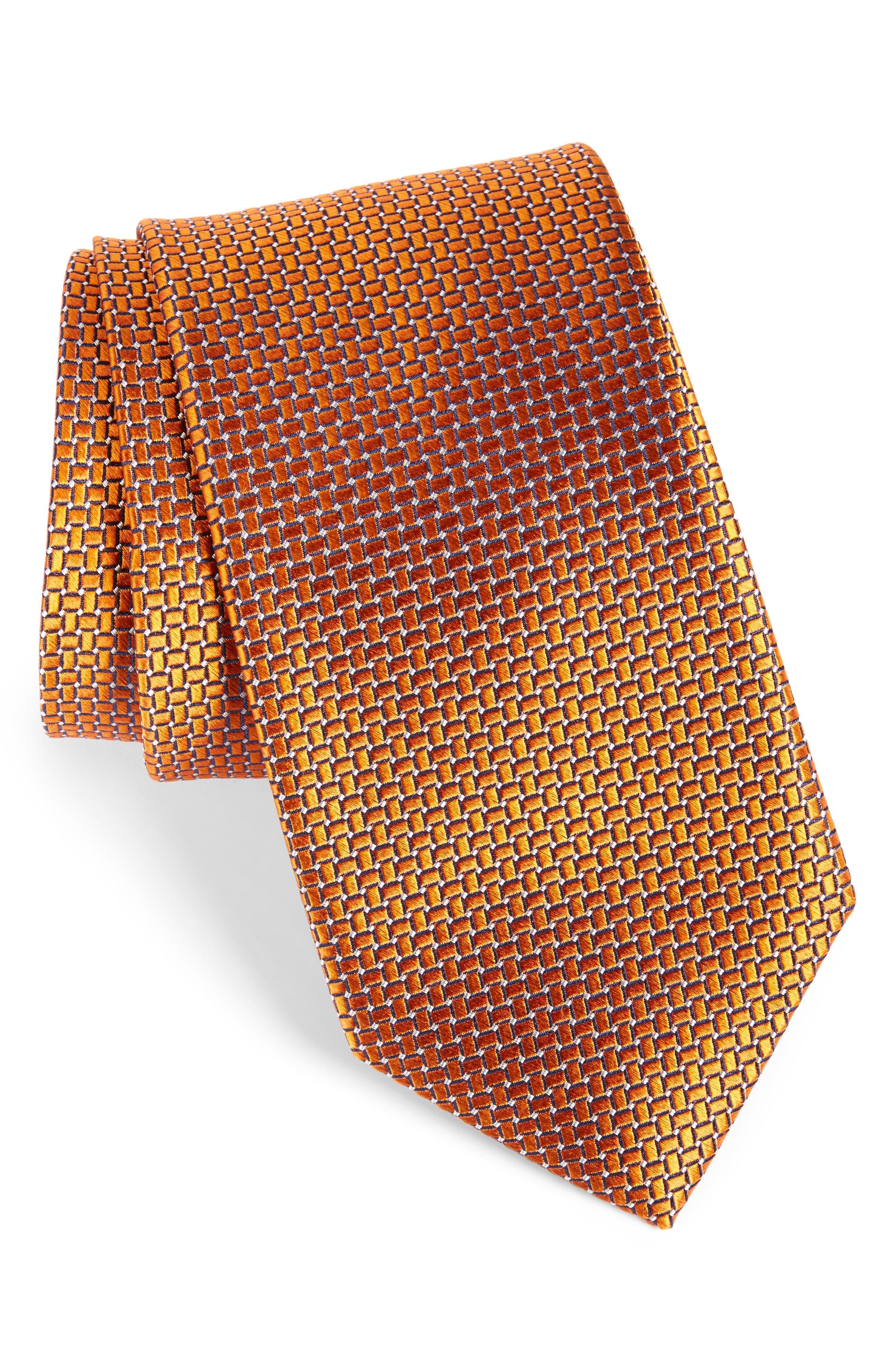 Basketweave Silk Tie,                             Main thumbnail 7, color,